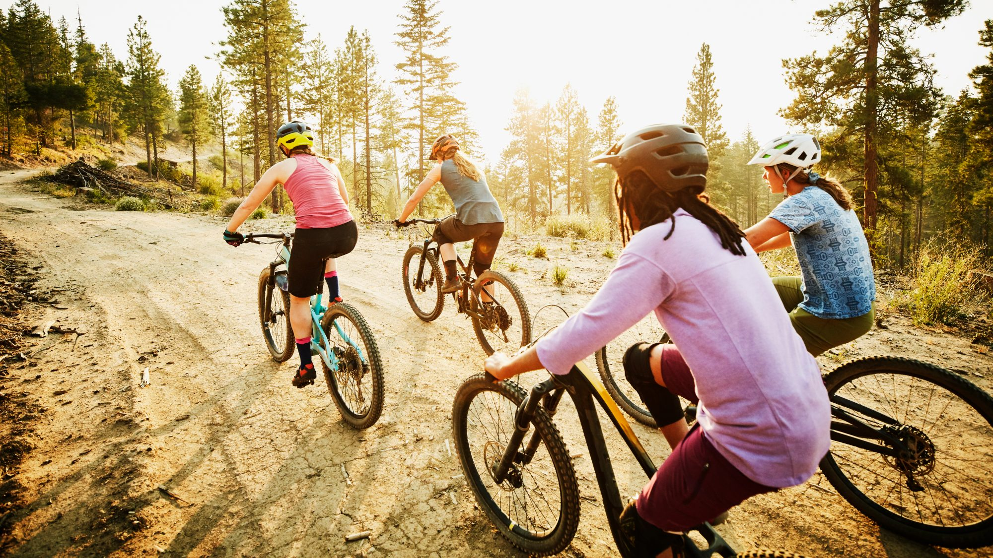 women on bicycles: exercise to beat seasonal affective disorder