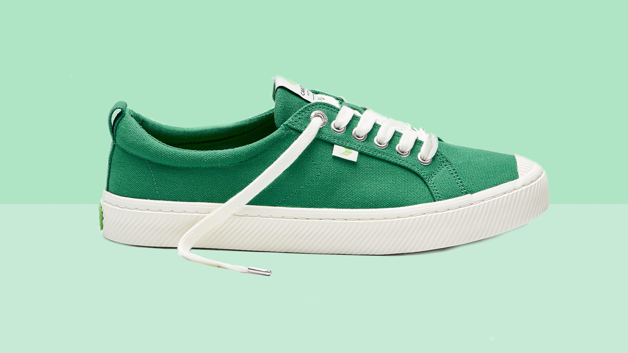 OCA Low Green Canvas Sneaker Tout