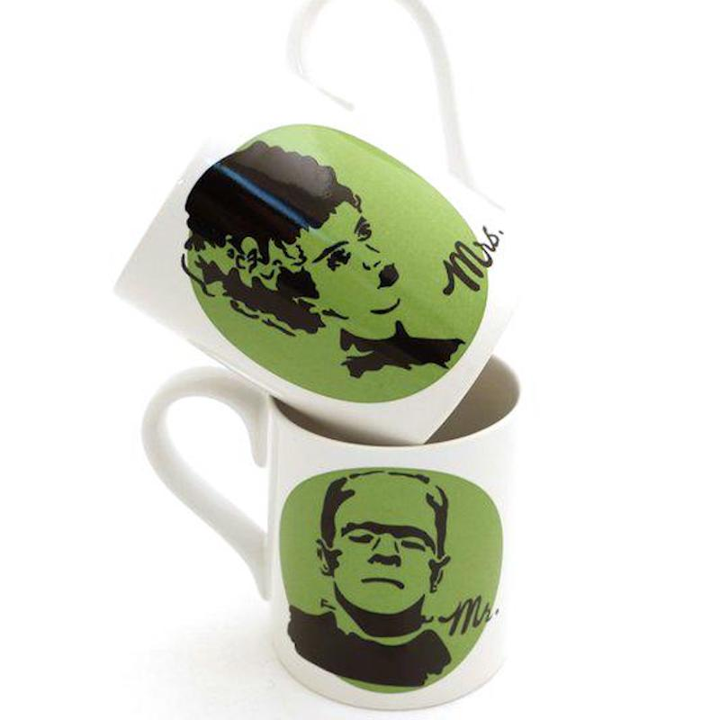 Made for Each Other Frankenstein and Bride of Frankenstein Mug Set for First Anniversary Gifts