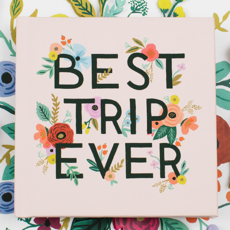 Best Trip Ever Photo Book Anniversary Gift