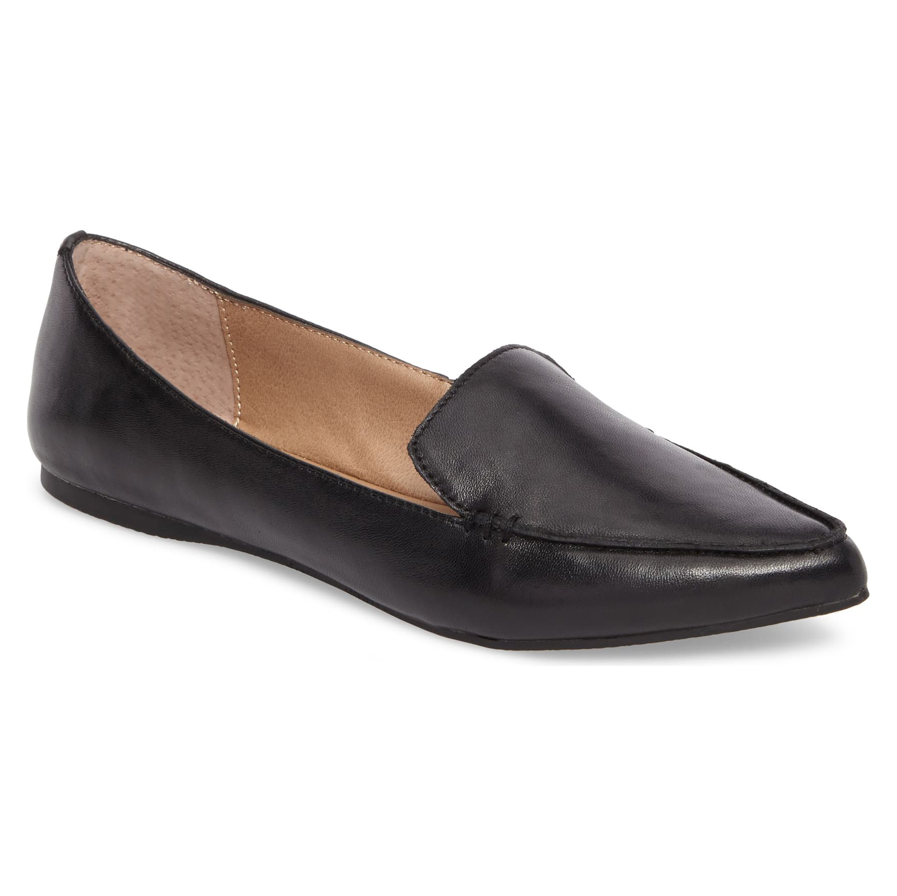 Steve Madden Feather Loafer Black Flat