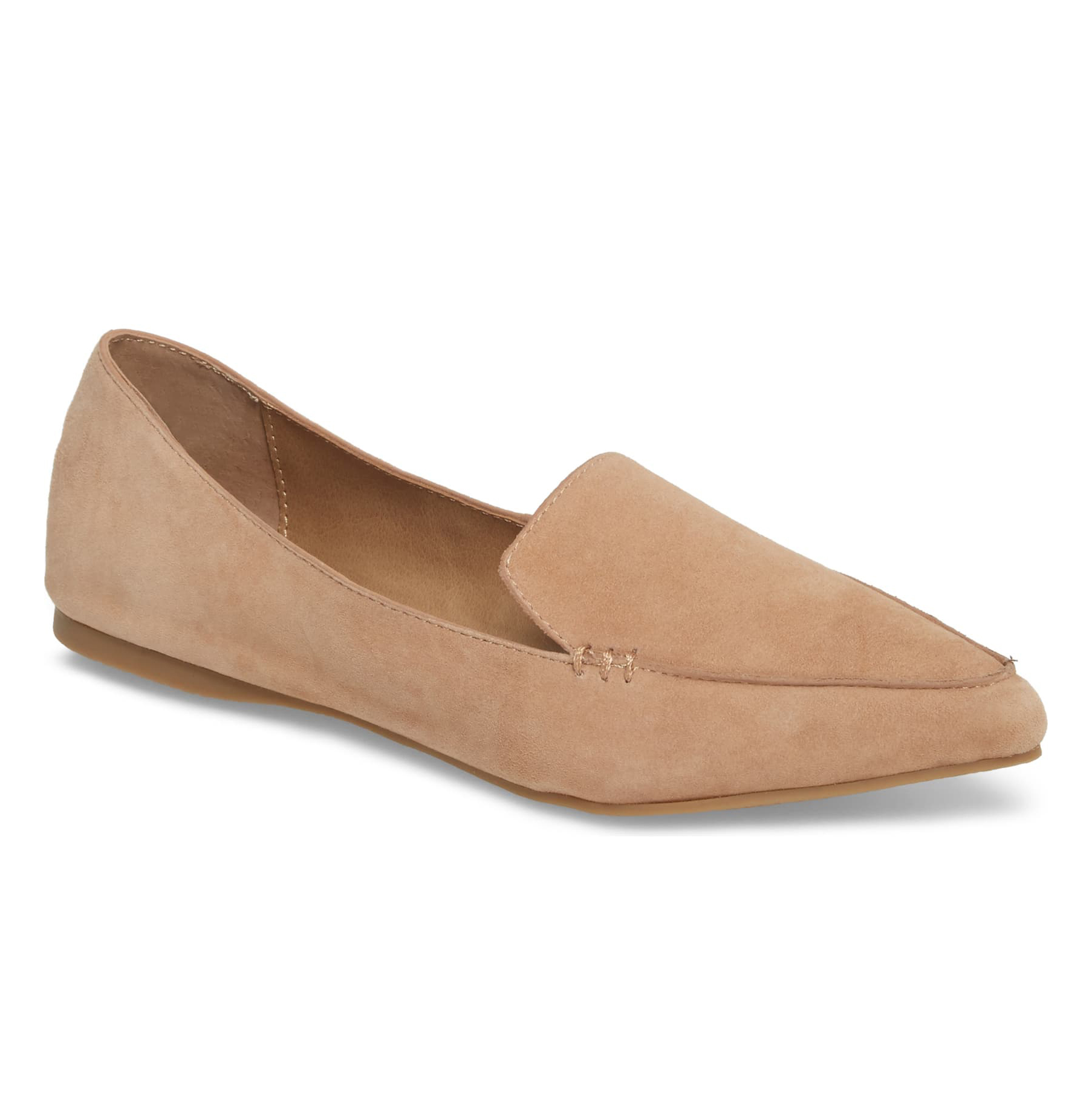 Steve Madden Feather Loafer Camel Suede Flat