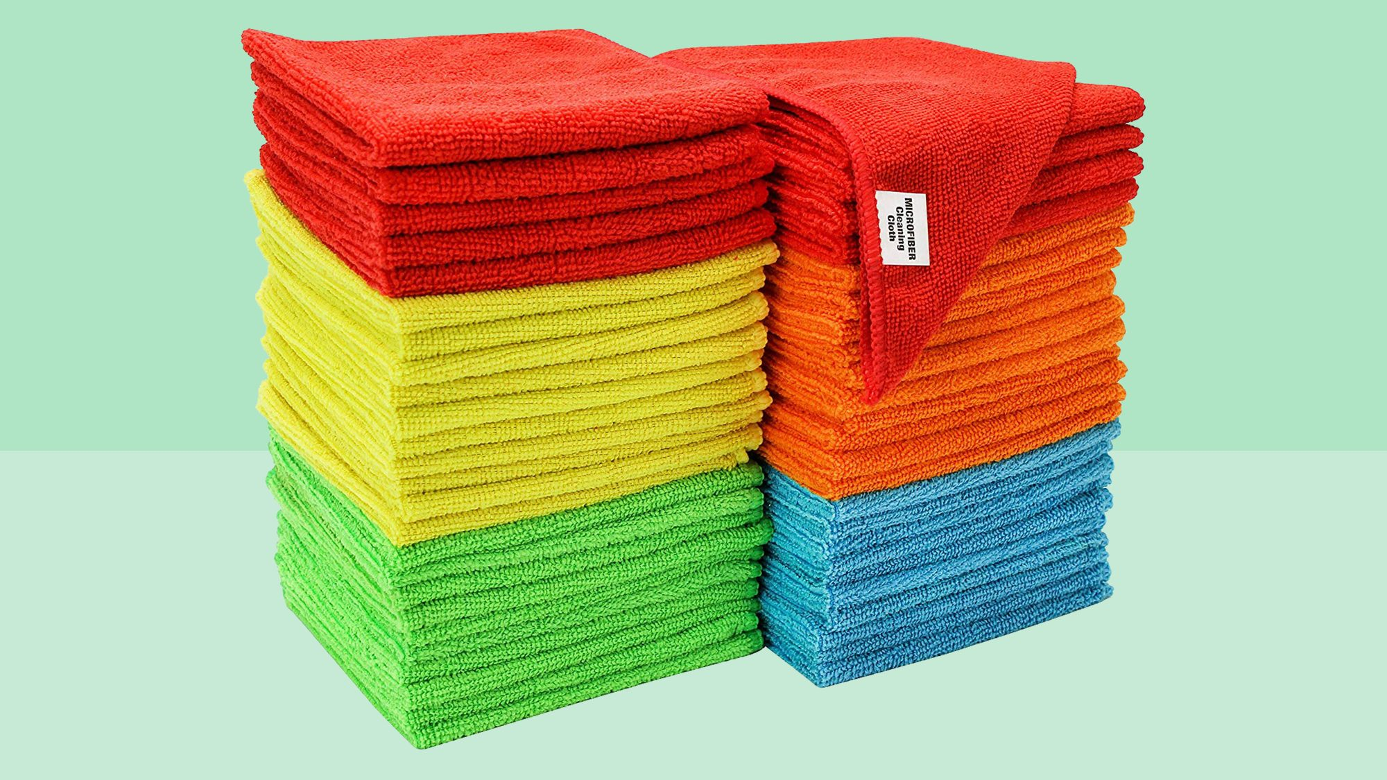 S&T INC. 968601 Assorted 50 Pack Microfiber Cleaning Cloths Tout