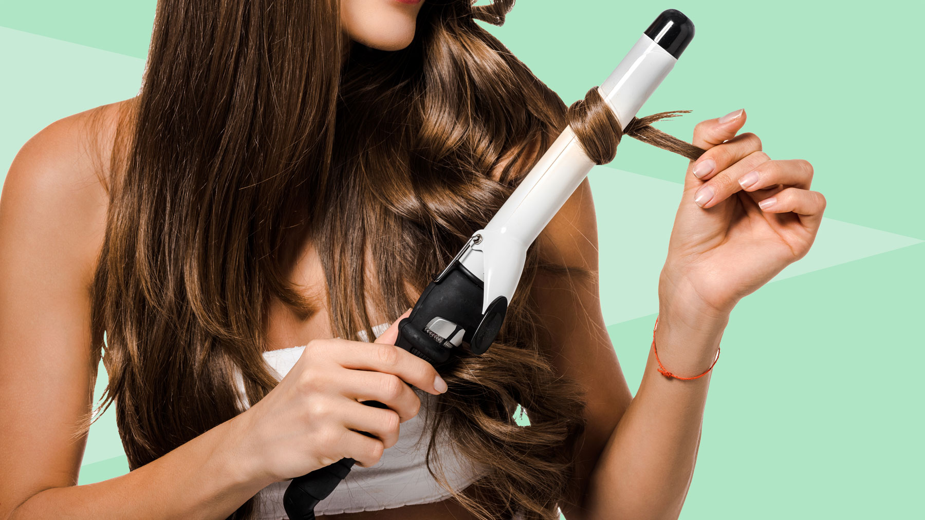 How to Clean a Curling Iron: Steps and Ingredients for Cleaning a Curling Iron at Home (Women using curling iron)