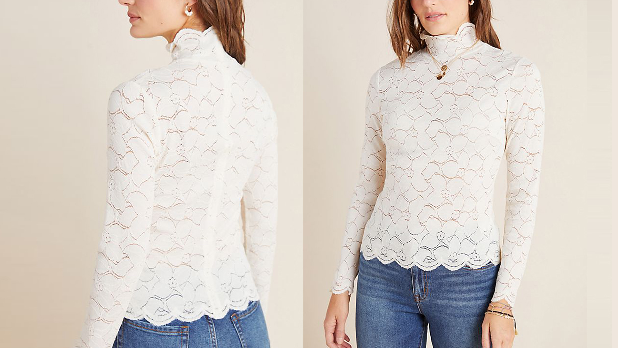 lace top for spring layering