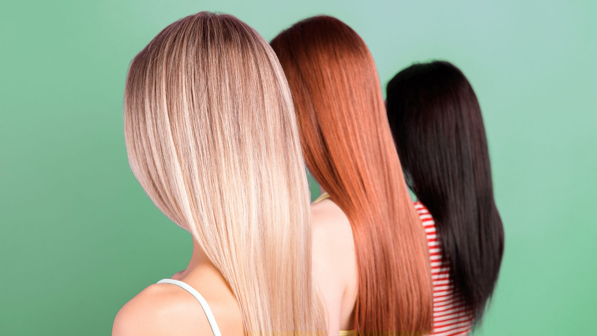 women blonde, red, and brunette hair color for spring