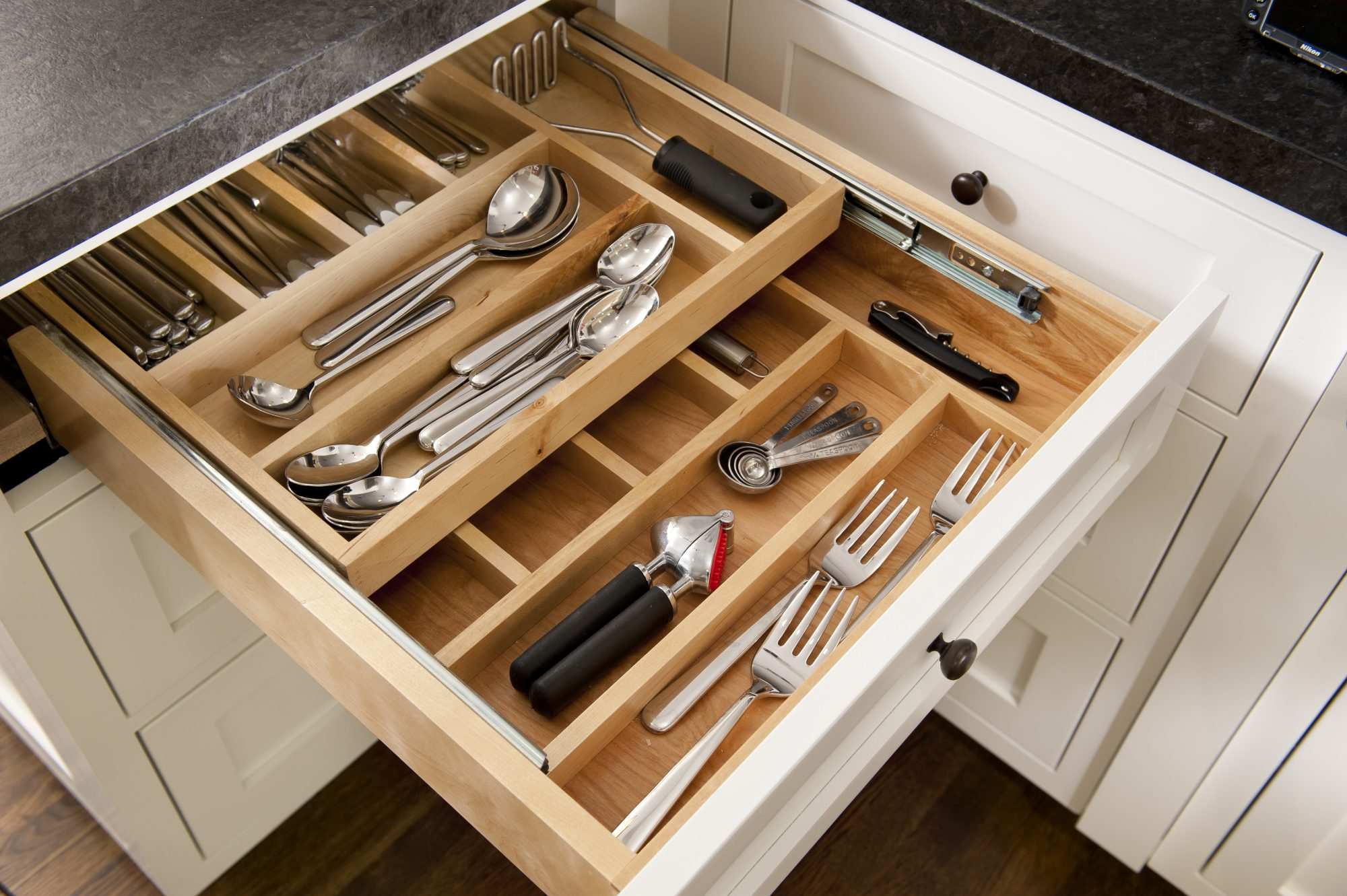 Quarantine Organize kitchen utensil drawer