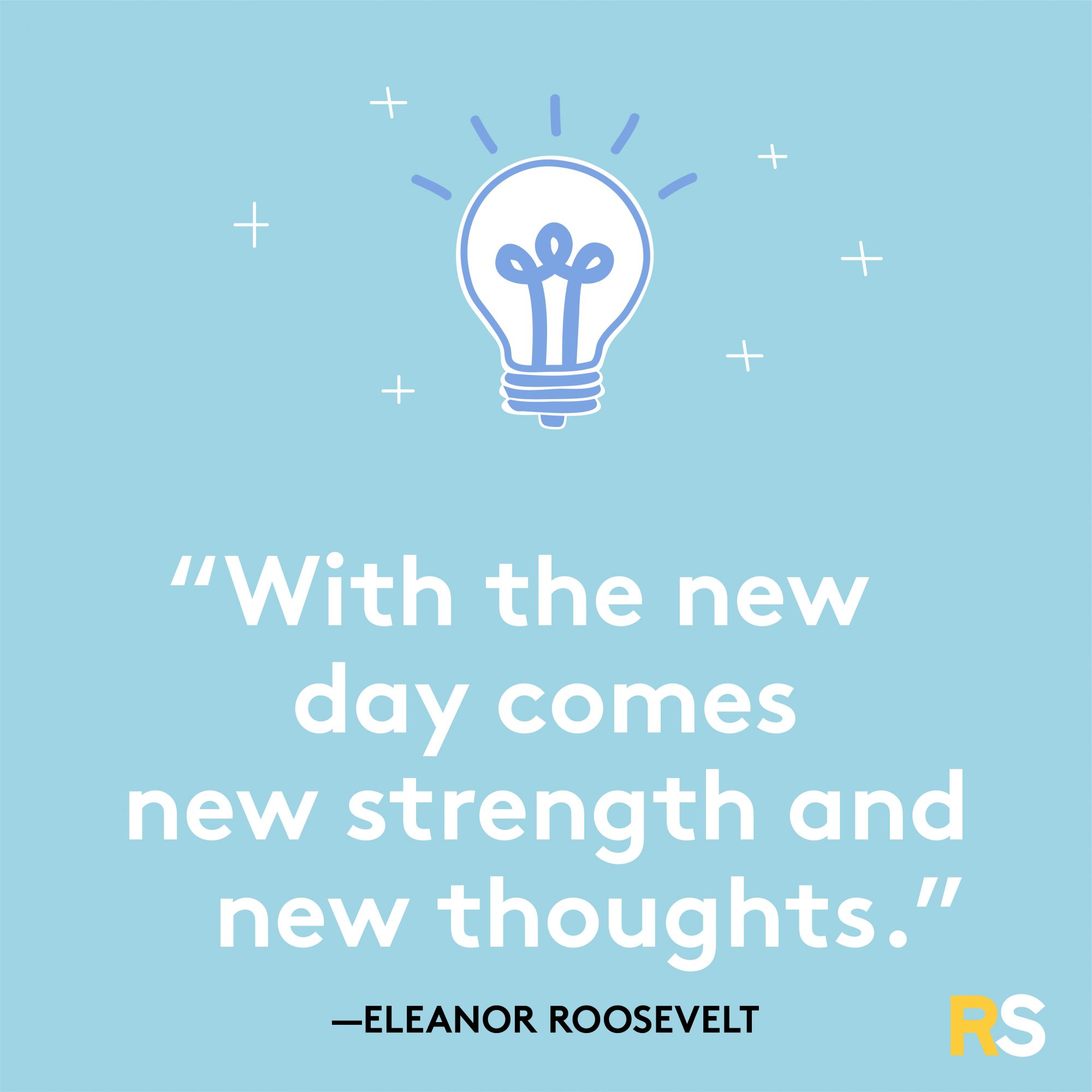New Day Comes New Strength Quote by Eleanor Roosevelt