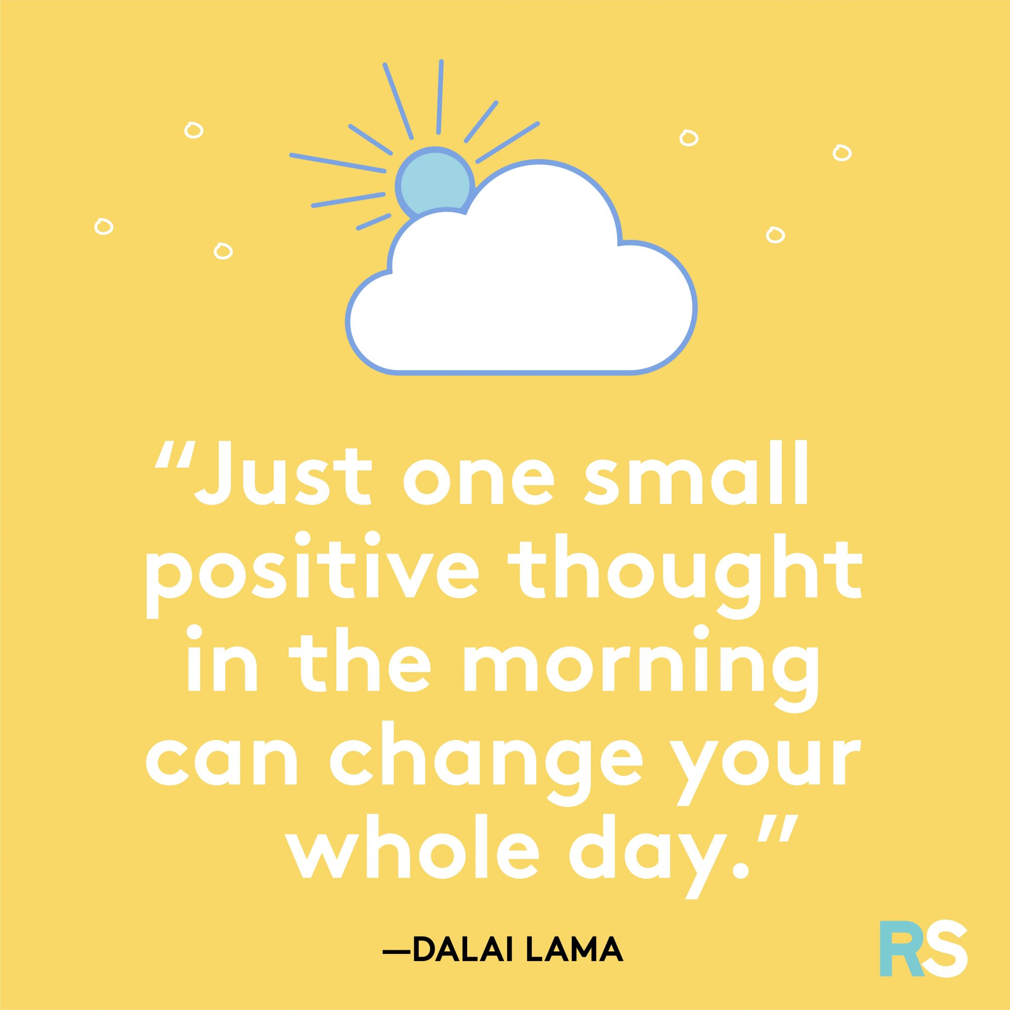 One Small Positive Thought Quote By Dalai Lama