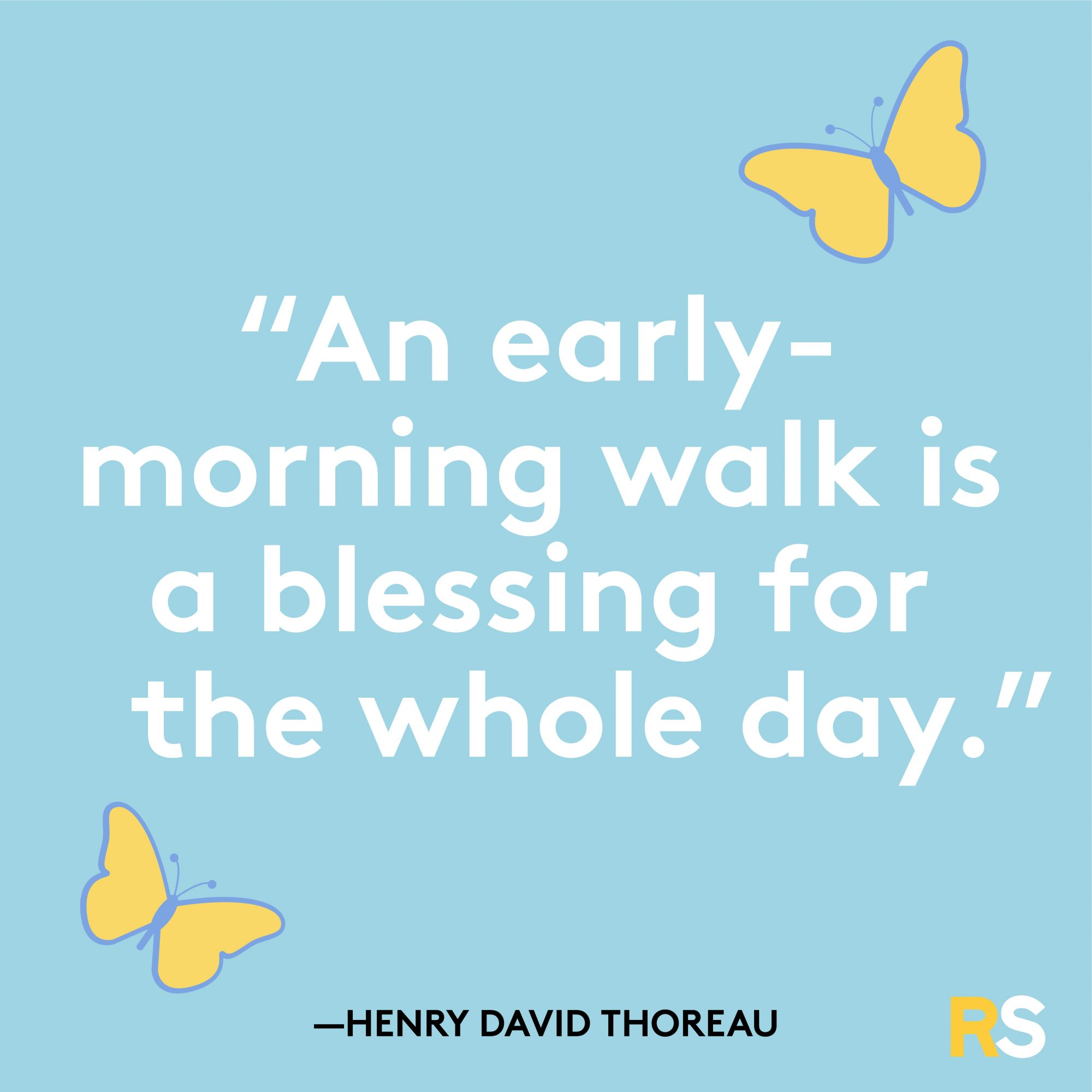 Early Morning Walk Is a Blessing Quote by Henry David Thoreau