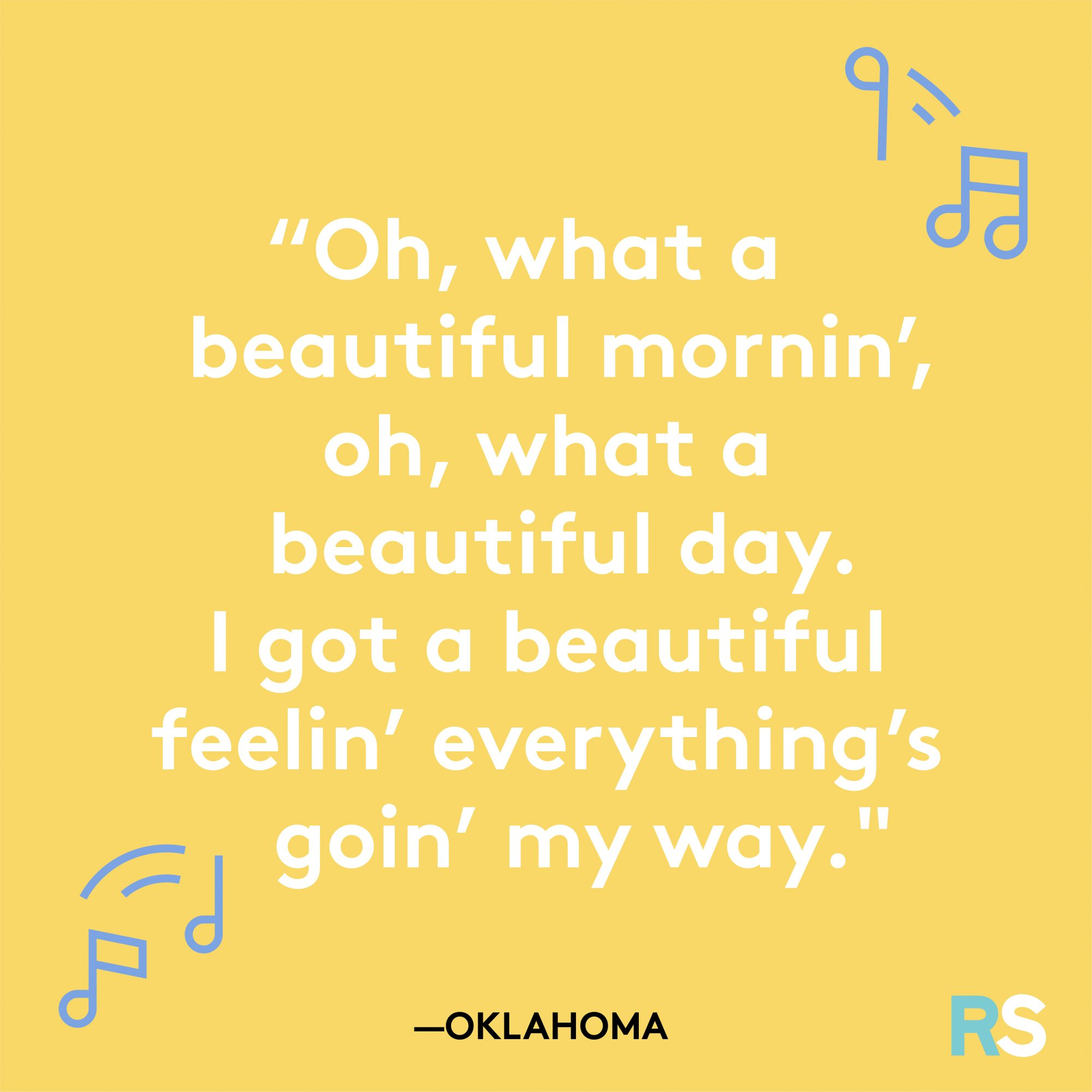 Oh What a Beautiful Mornin Lyric from Oklahoma
