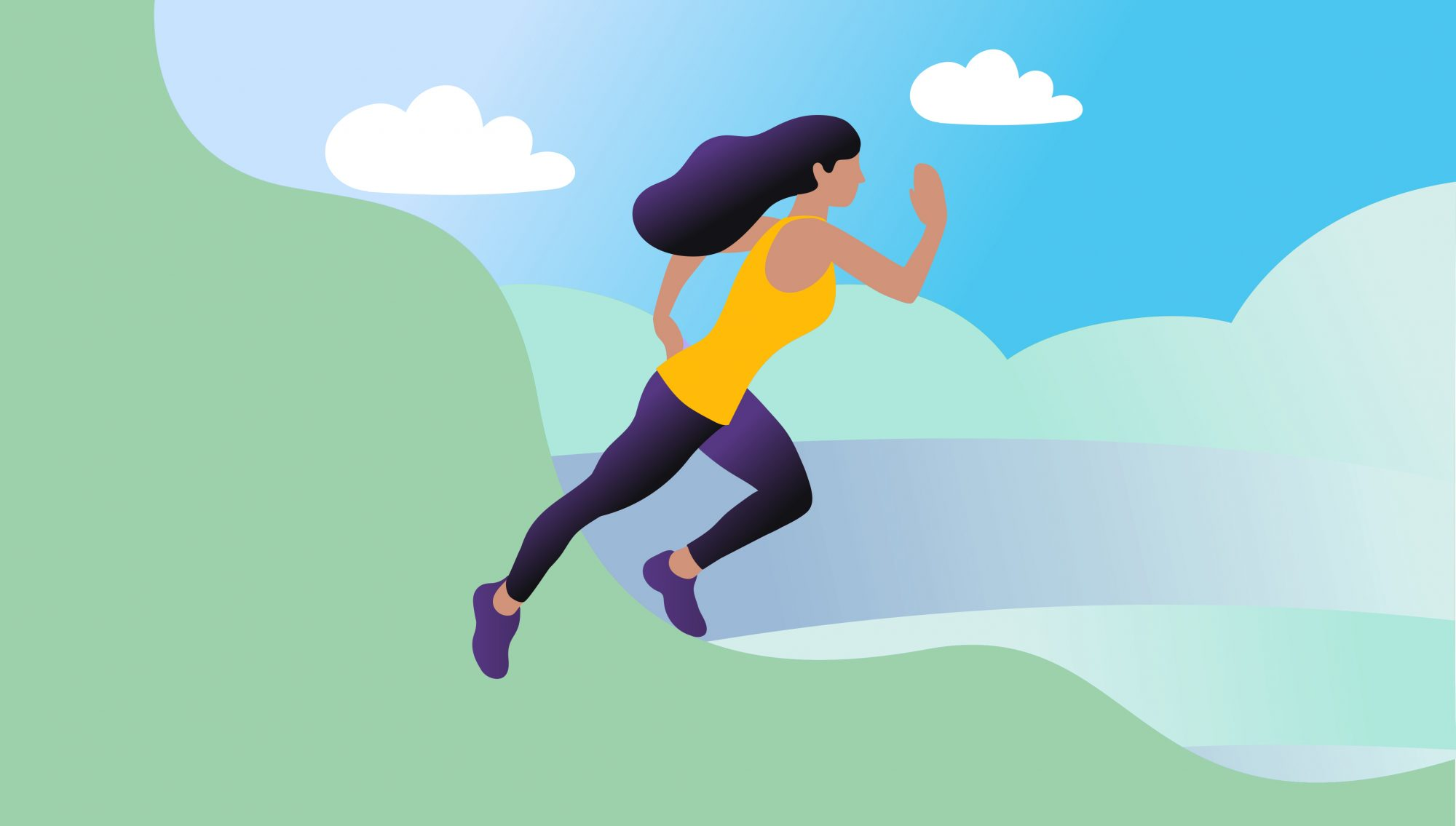 illustration of woman running