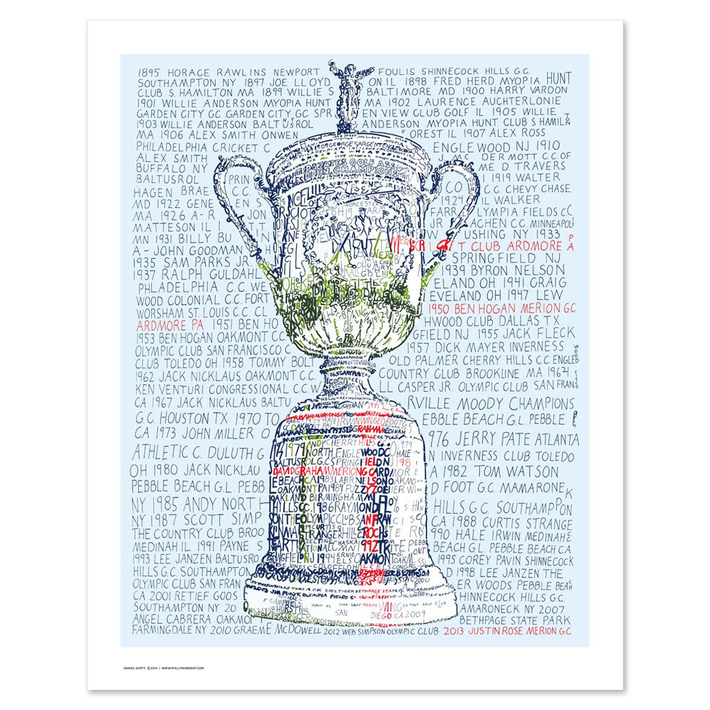 Father's Day gift ideas - Art of Words U.S. Open Trophy