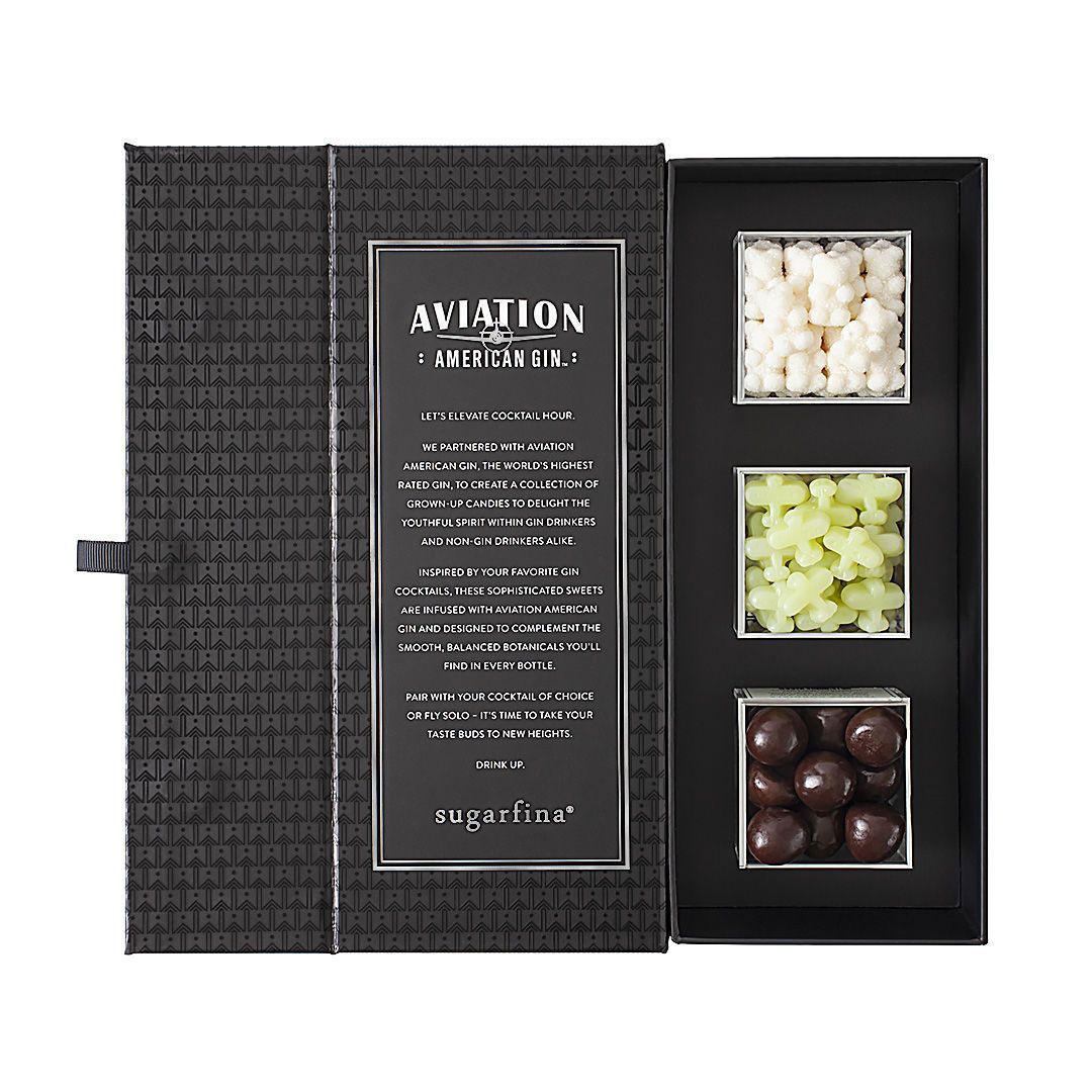 Father's Day gift ideas - Sugarfina Aviation Gin 3-Piece Candy Bento Box