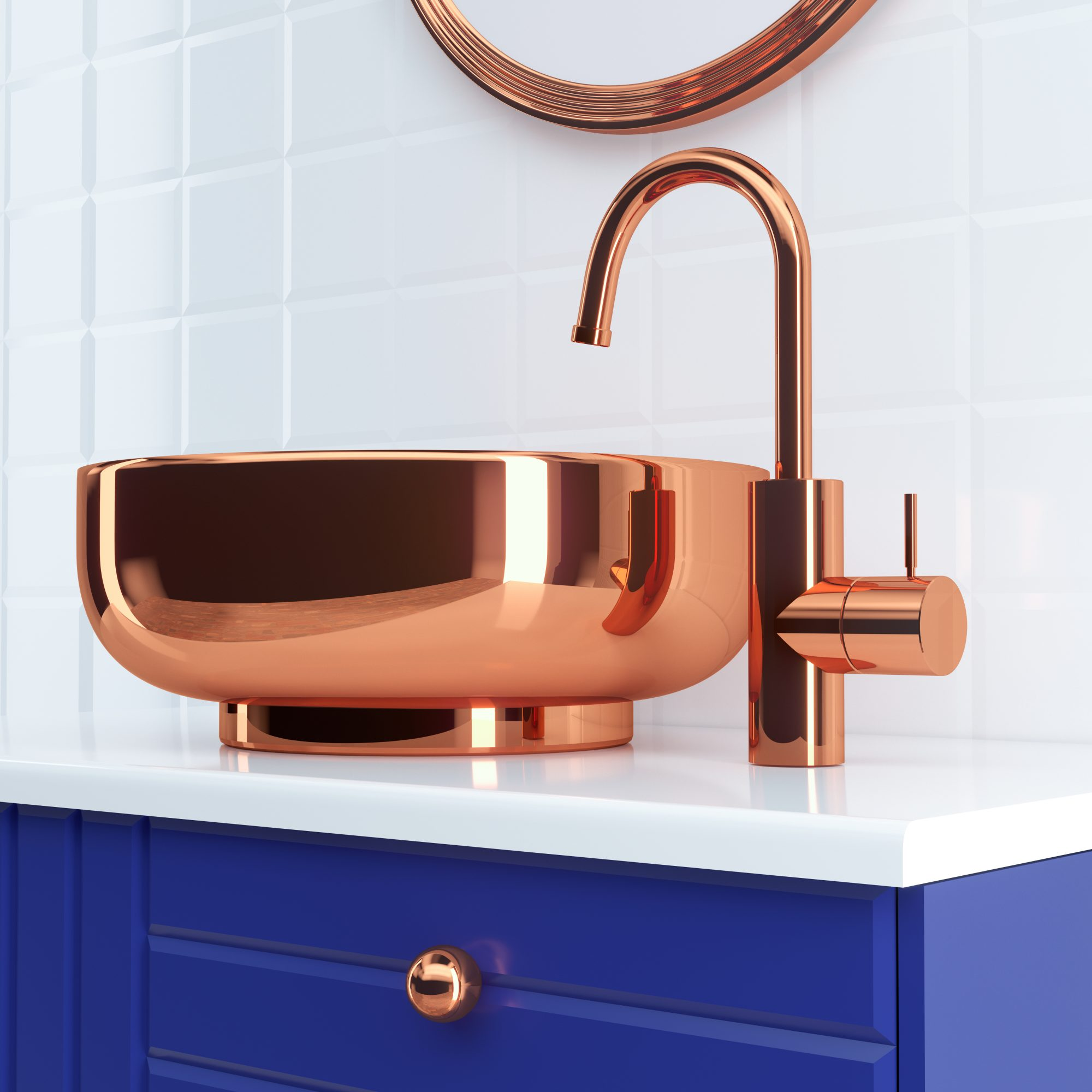 coronavirus home decor trends, copper sink and faucet