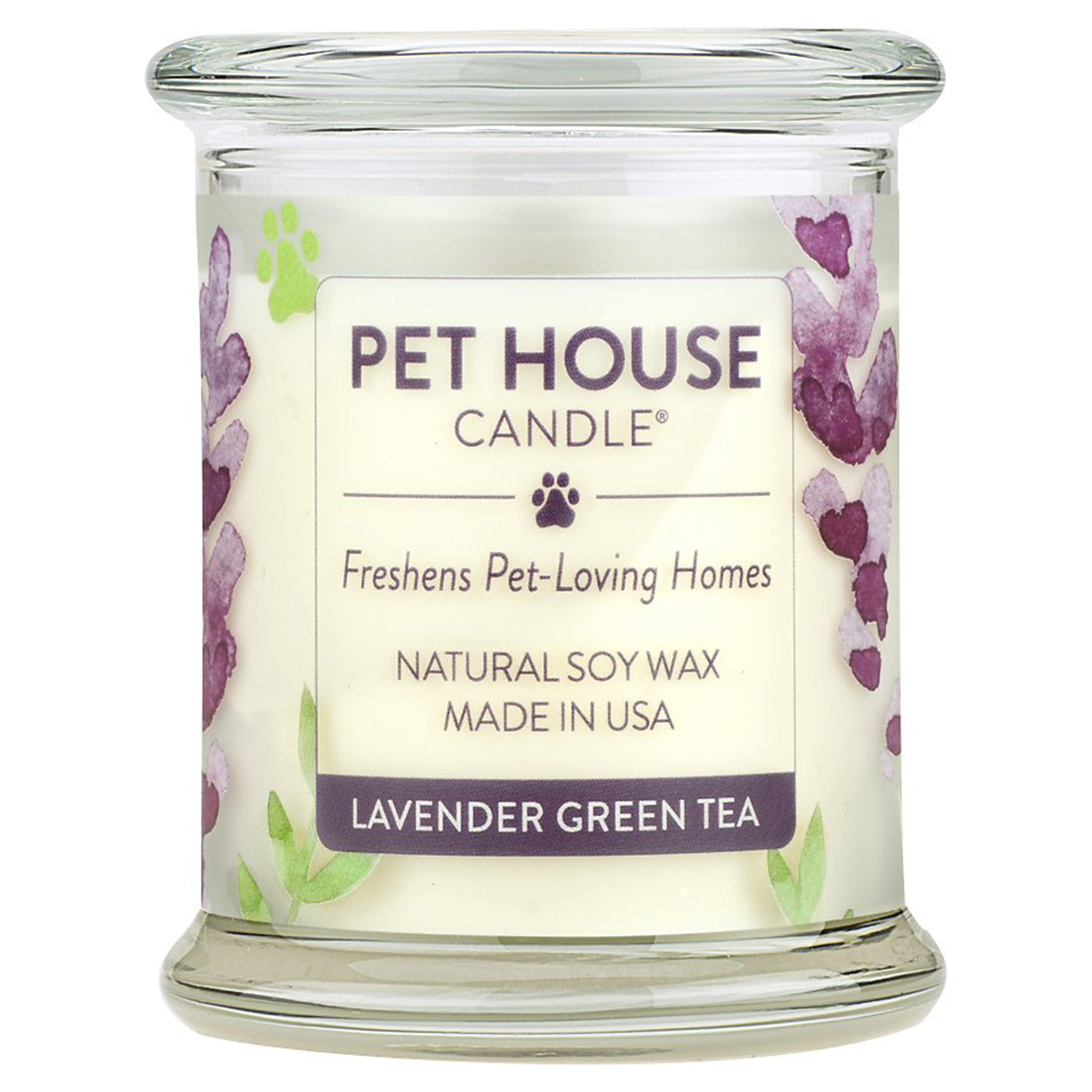 Pet House Lavender Green Tea Natural Soy Candle