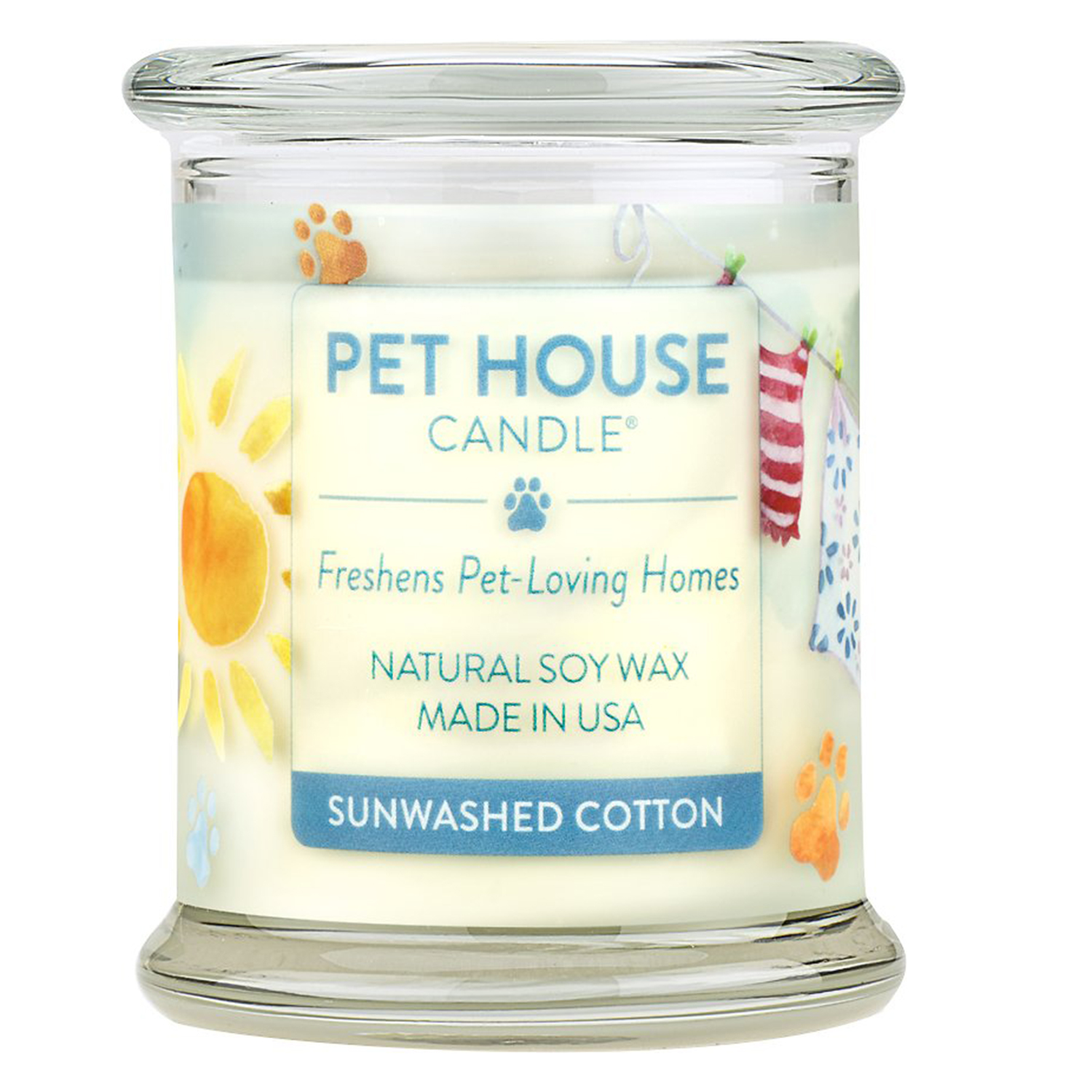 Pet House Sunwashed Cotton Natural Soy Candle