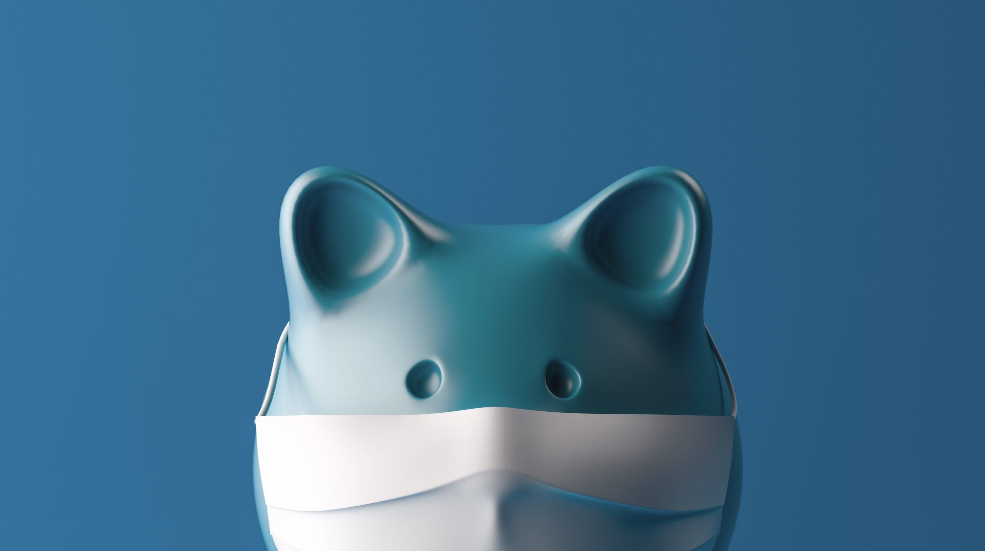 How to Use Stimulus Checks: Piggy bank with surgical mask