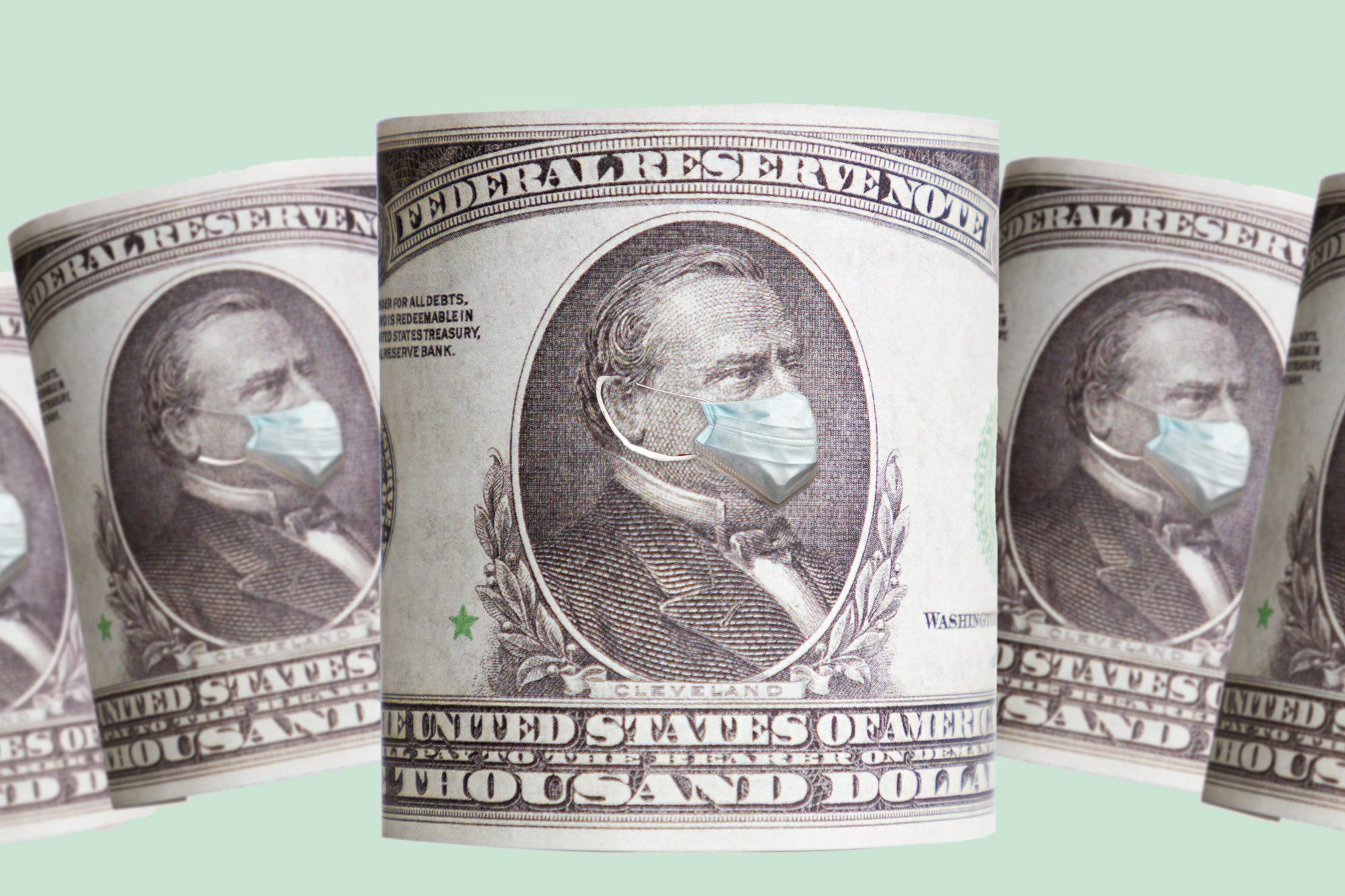 Stimulus check scams - how to protect your finances and information (dollar bill with mask)