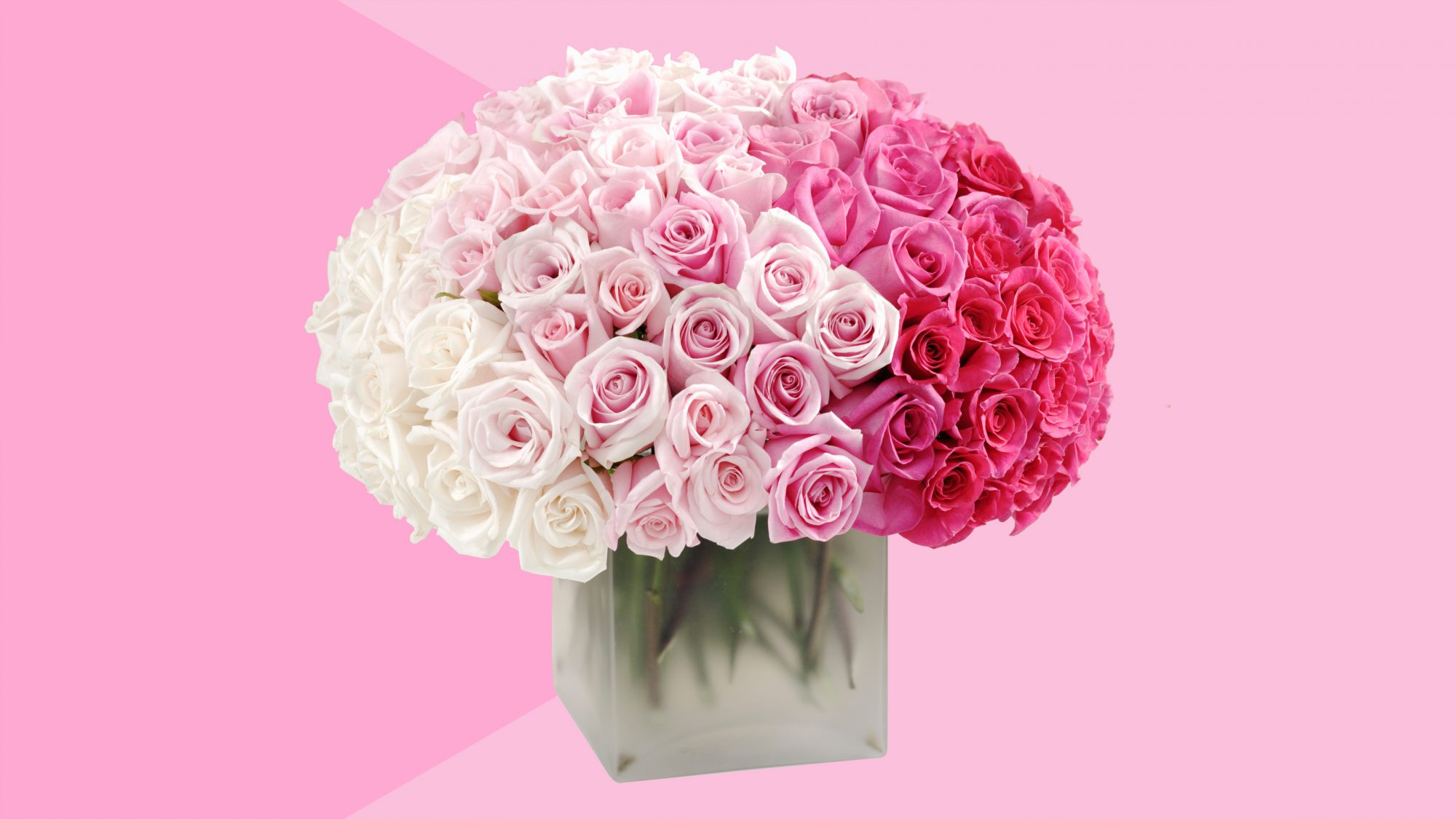 best-flower-delivery-service: pink roses in vase