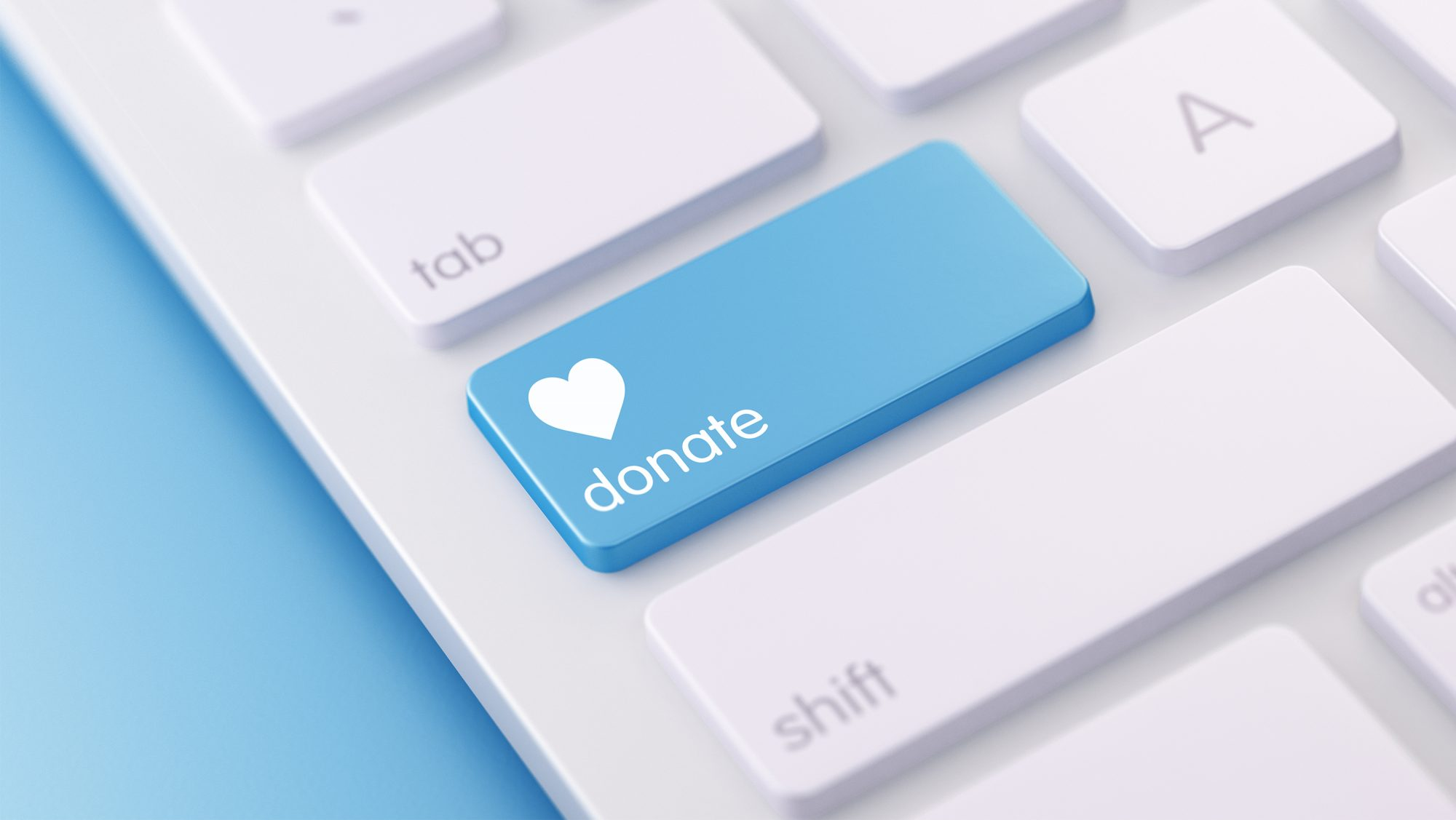 How to Avoid a Charity Donation Scam: keyboard