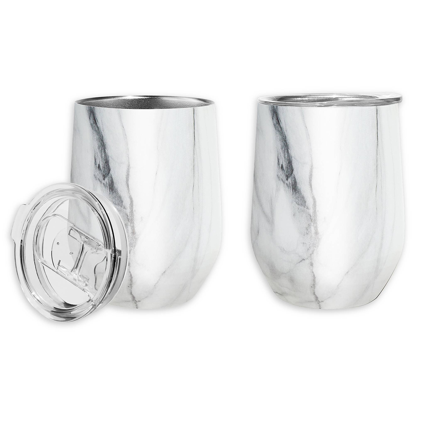 Oggi Cheers Stainless Steel Wine Tumblers (Set of 2)