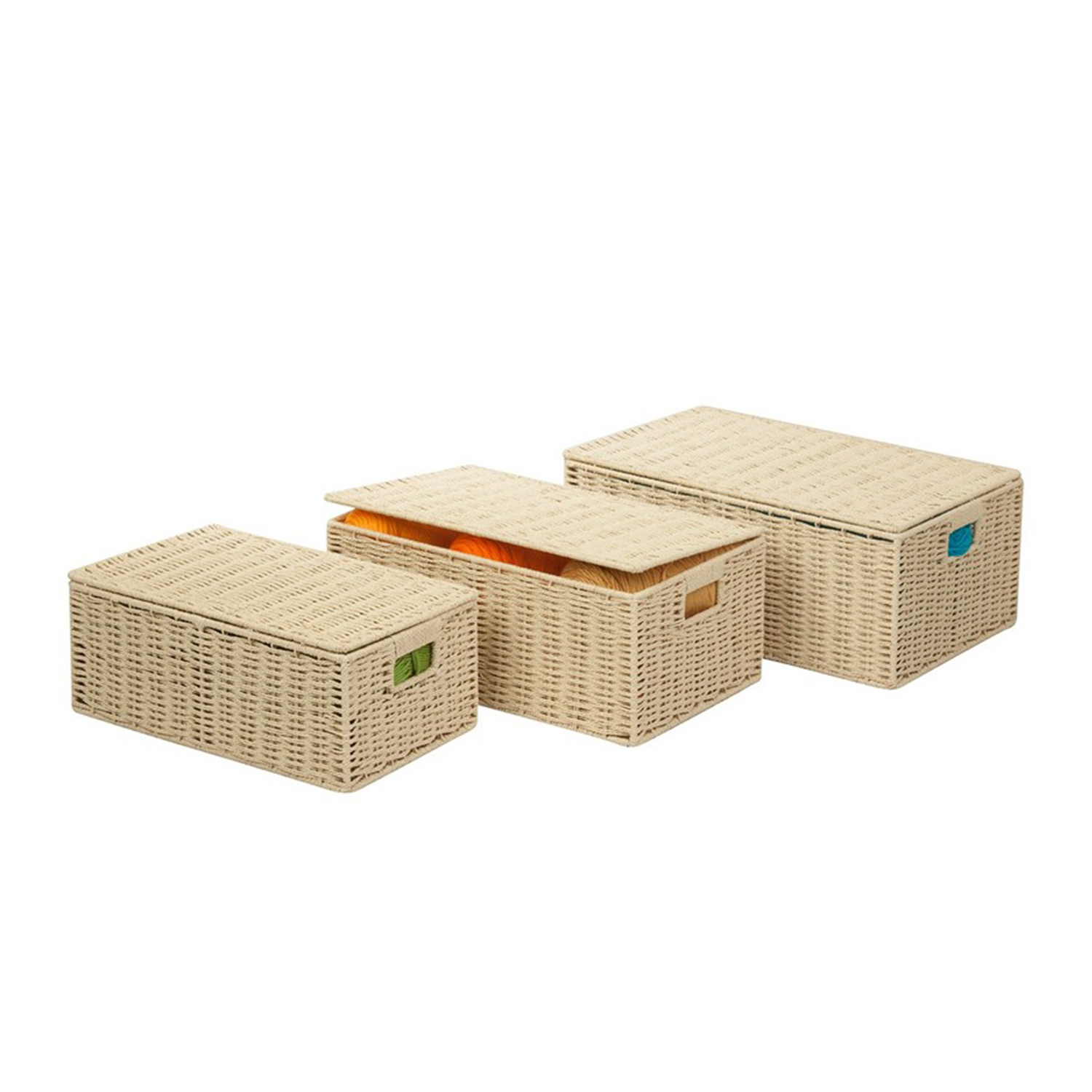 Butter Paper Rope Baskets - Set of 3