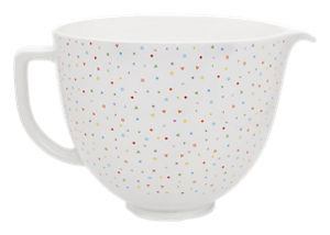Mother's Day gift ideas - KitchenAid 5 Quart Confetti Sprinkle Ceramic Bowl