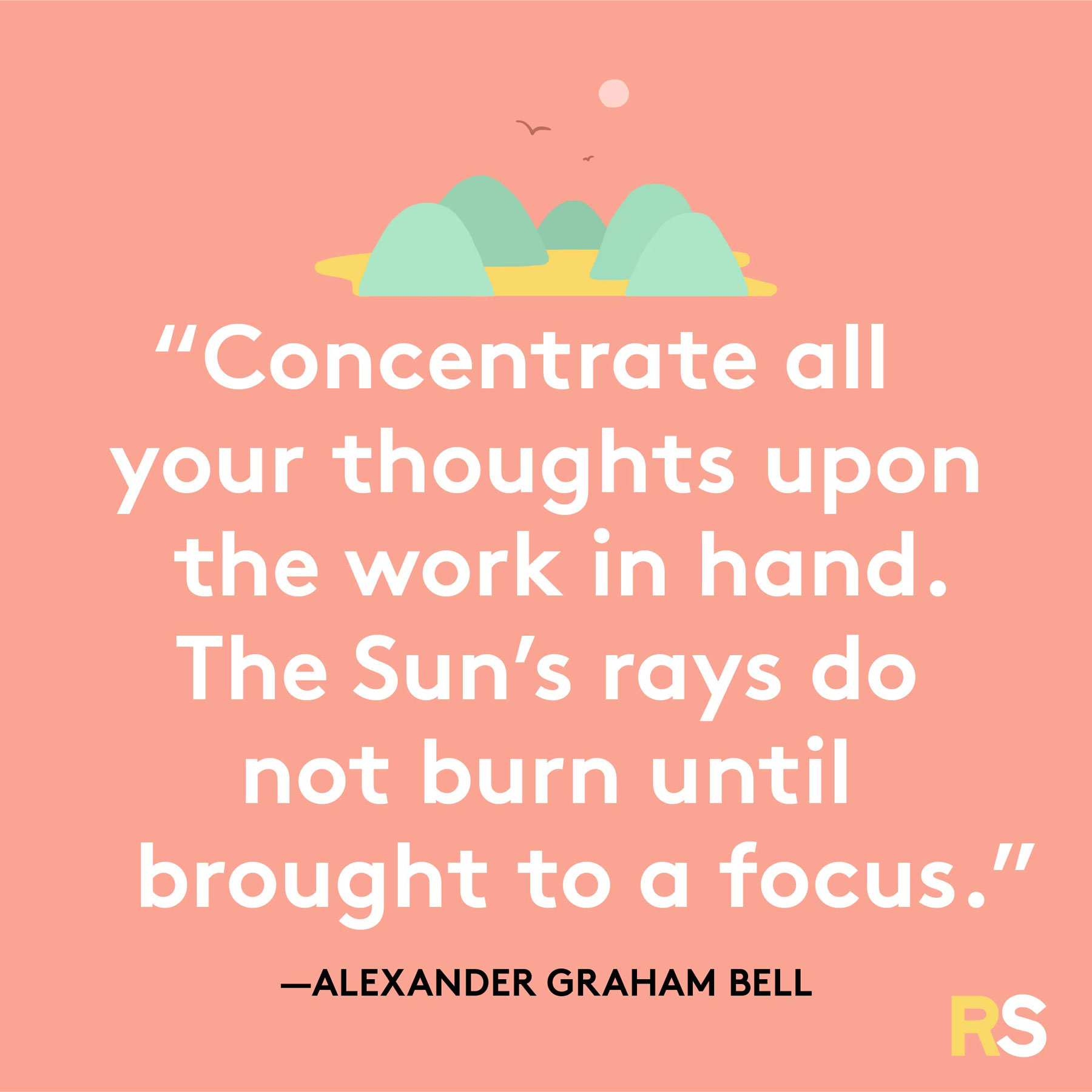 Positive quotes, captions, messages – Alexander Graham Bell quote