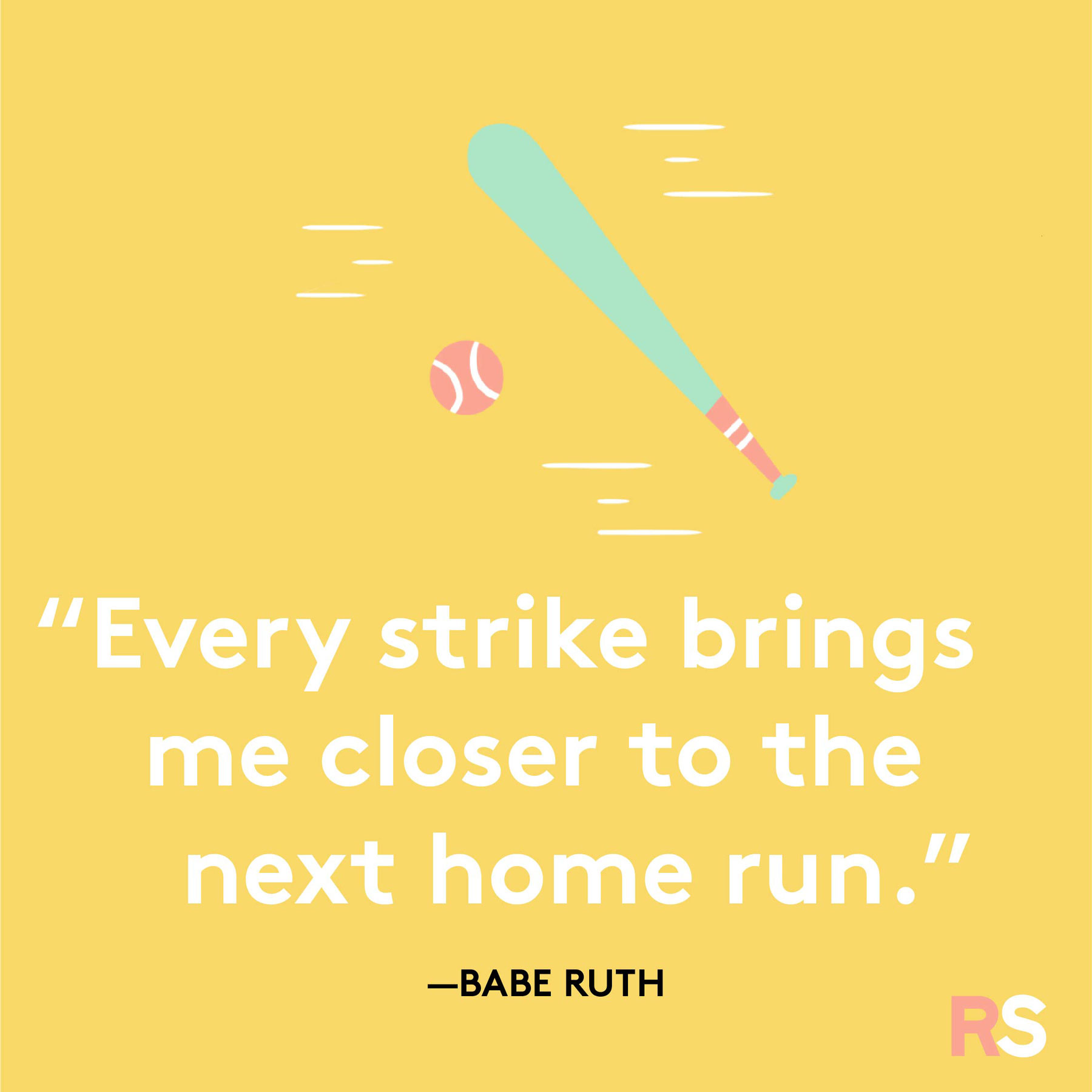 Positive quotes, captions, messages – Babe Ruth motivational quote