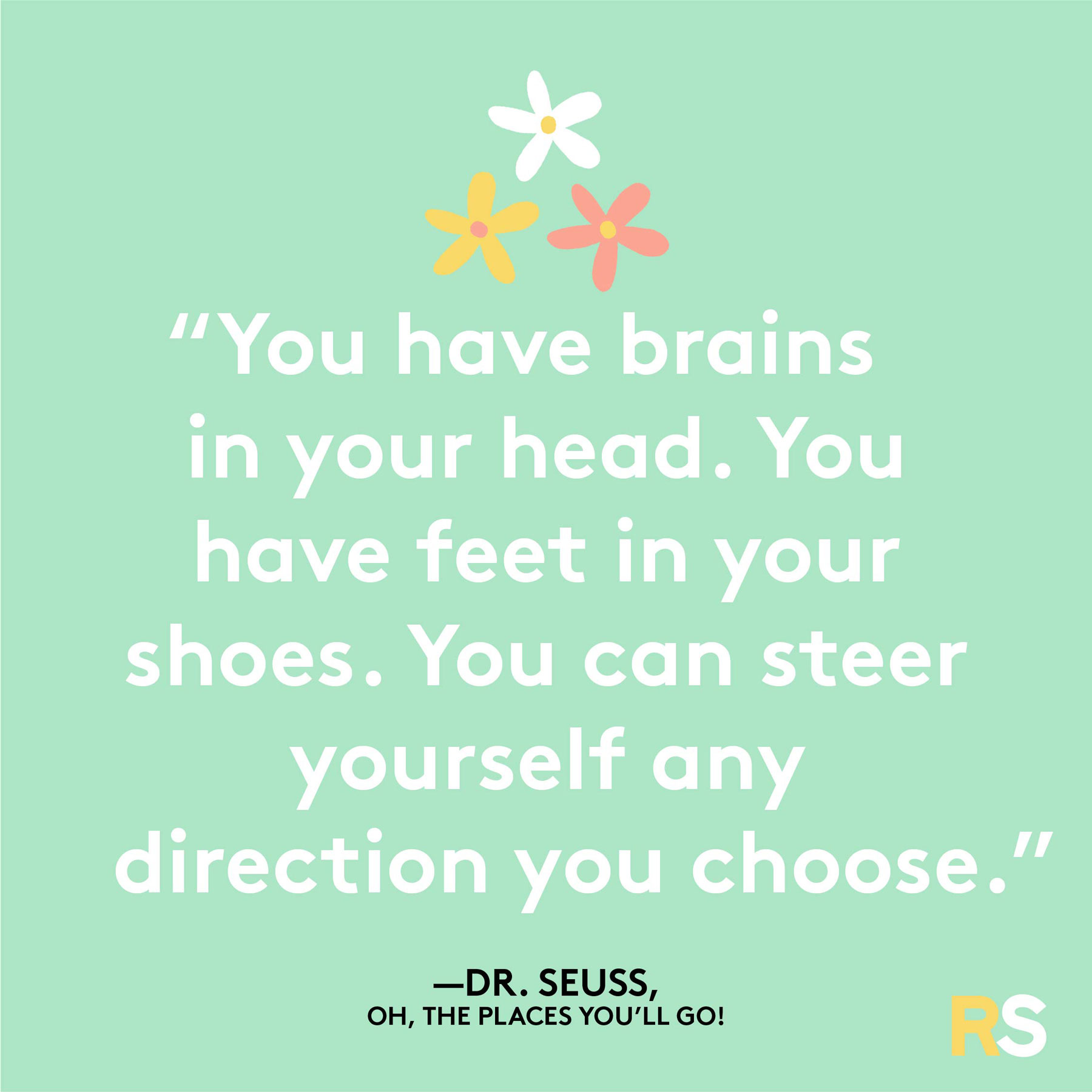 Positive motivating quotes, captions, messages – Dr. Seuss, Oh the Places You'll Go quote