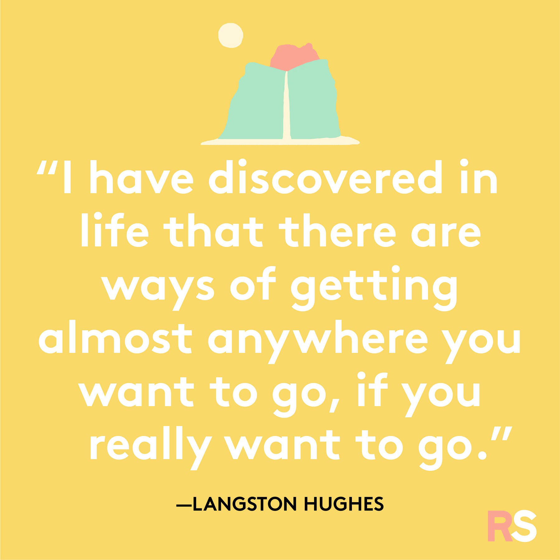 Positive motivating quotes, captions, messages – Langston Hughes quote
