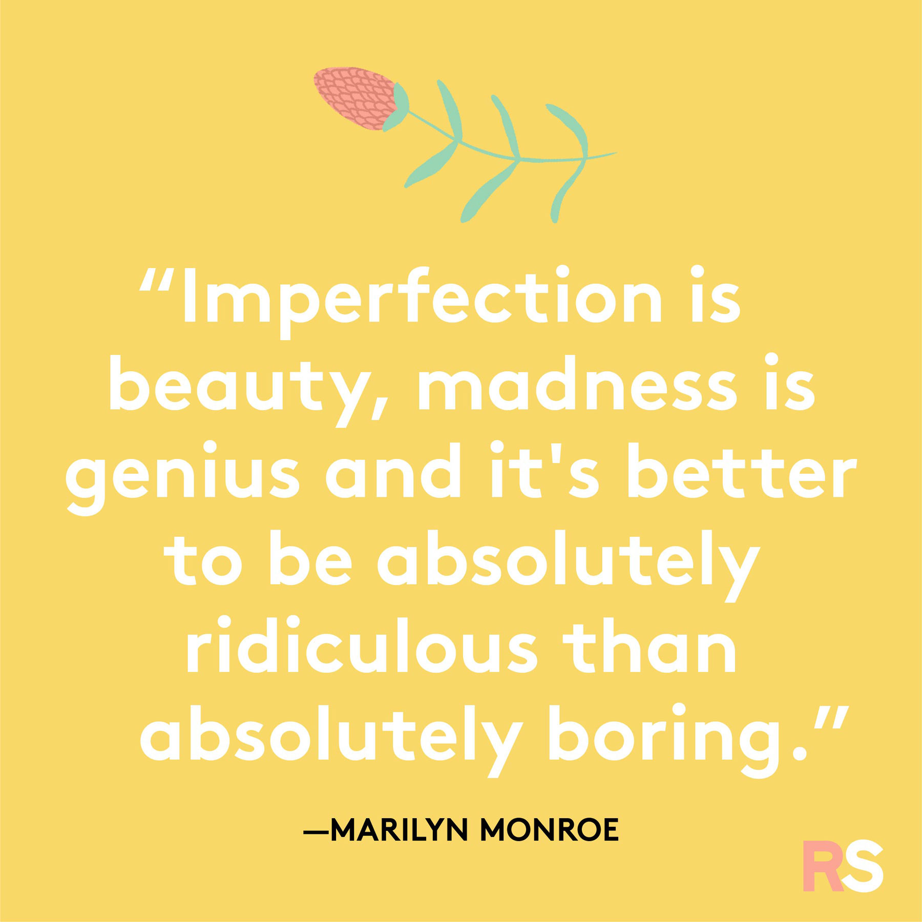 Positive motivating quotes, captions, messages – Marilyn Monroe quote