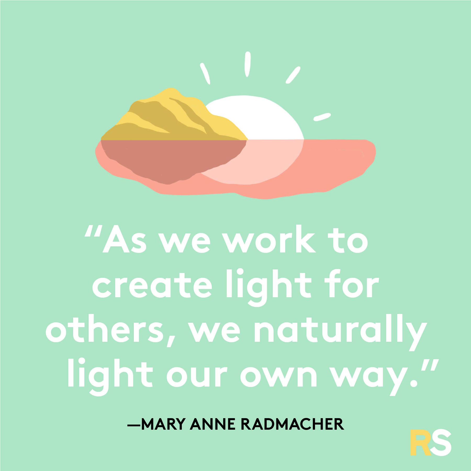 Positive motivating quotes, captions, messages – Mary Anne Radmacher quote