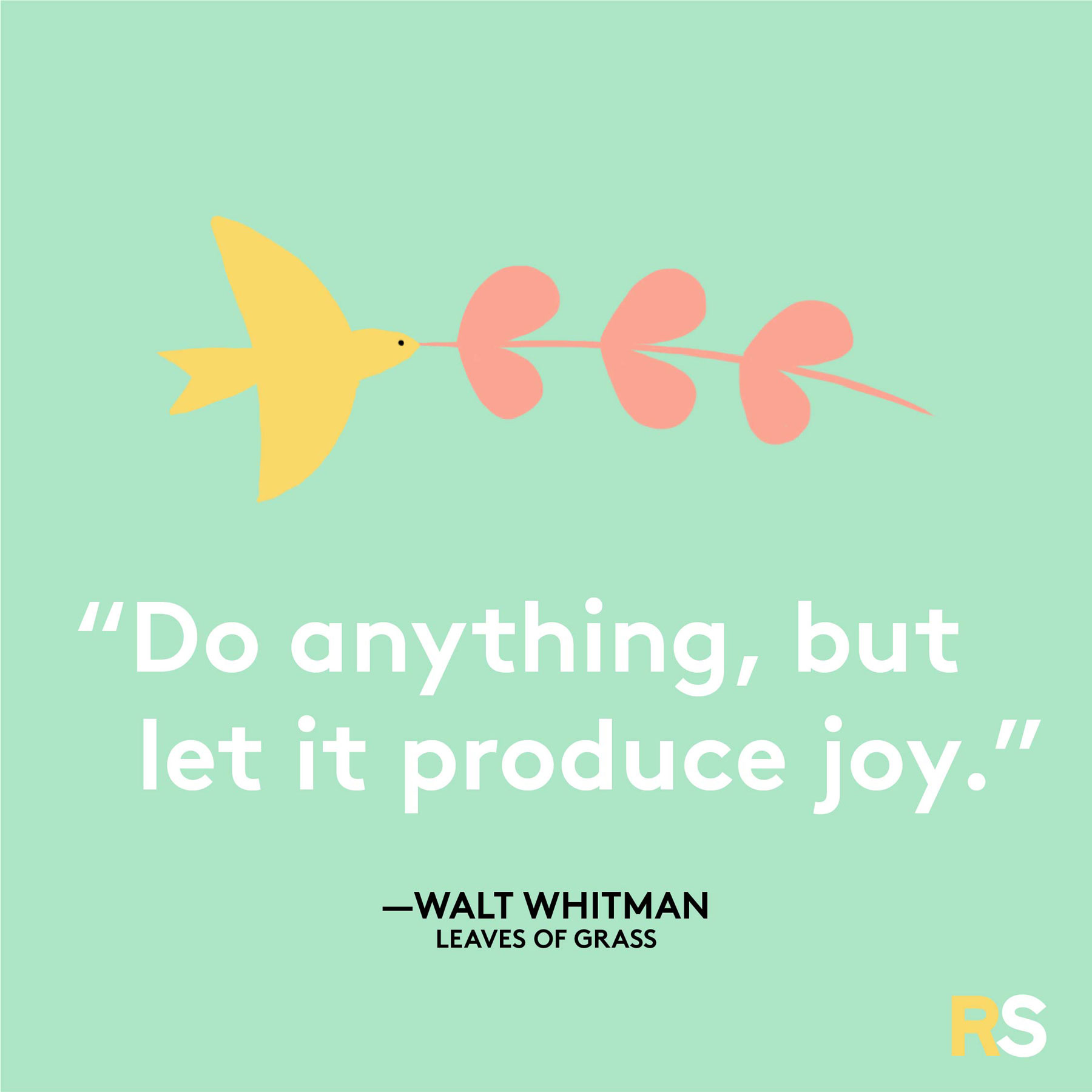 Positive motivating quotes, captions, messages – Walt Whitman Leaves of Grass quote