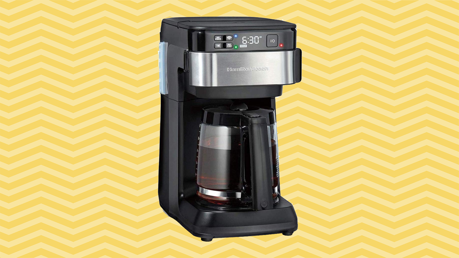 6 Clever Items 5/15/20 - Hamilton Beach Alexa-Enabled Coffee Maker yellow background tout