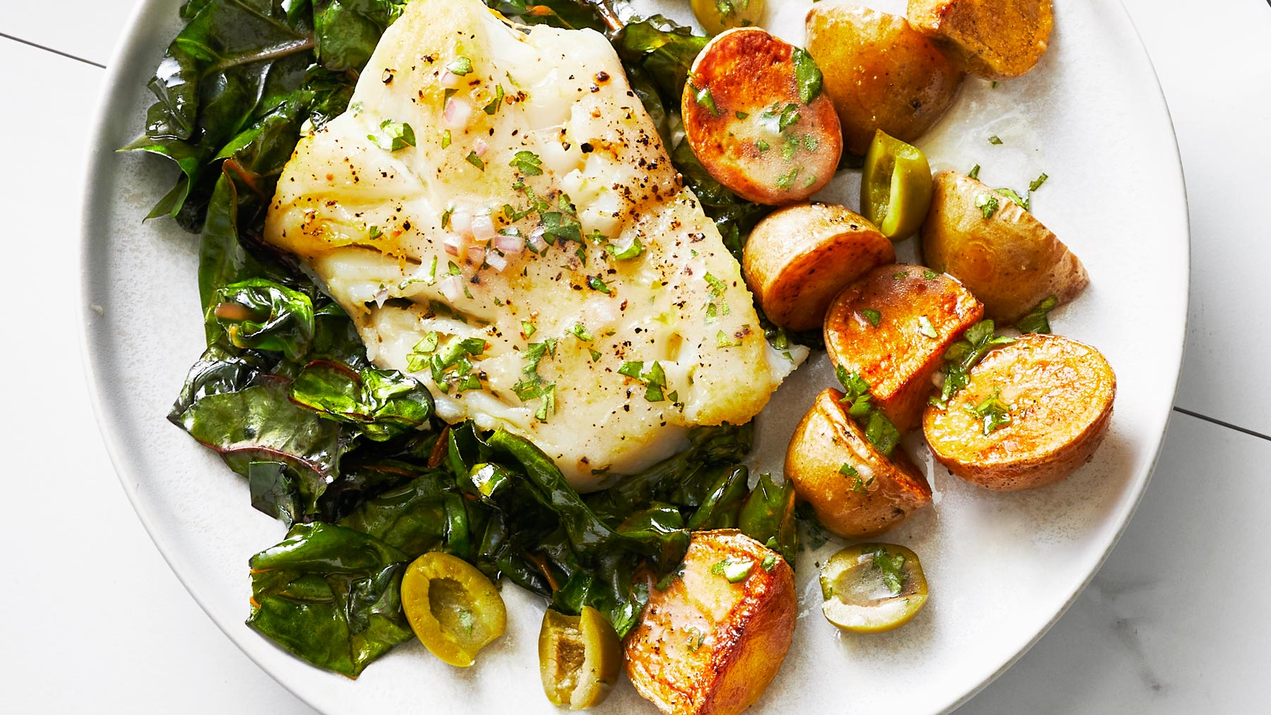 Sheet Pan Cod and Potatoes Recipe