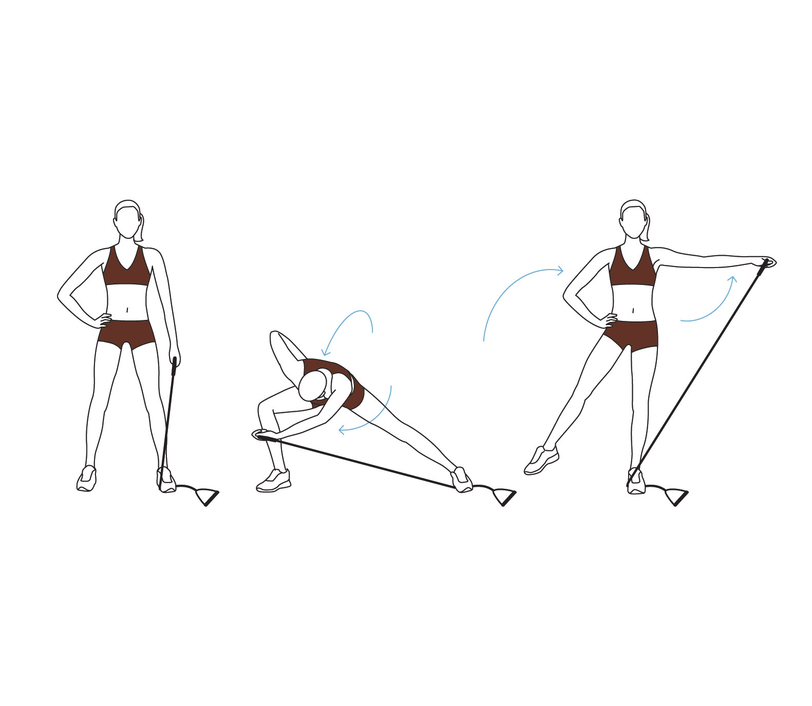 Move 5: Side Lunge With Side Raise