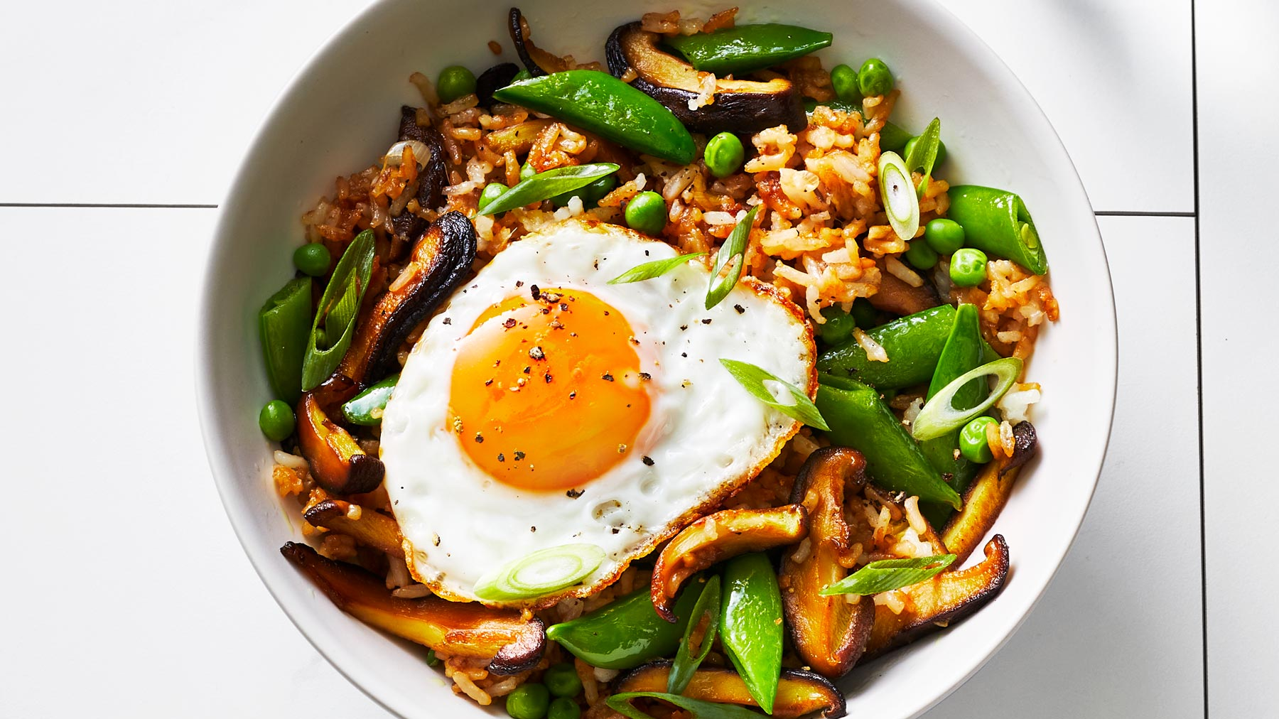 Veggie Fried Rice With Frizzled Eggs Recipe