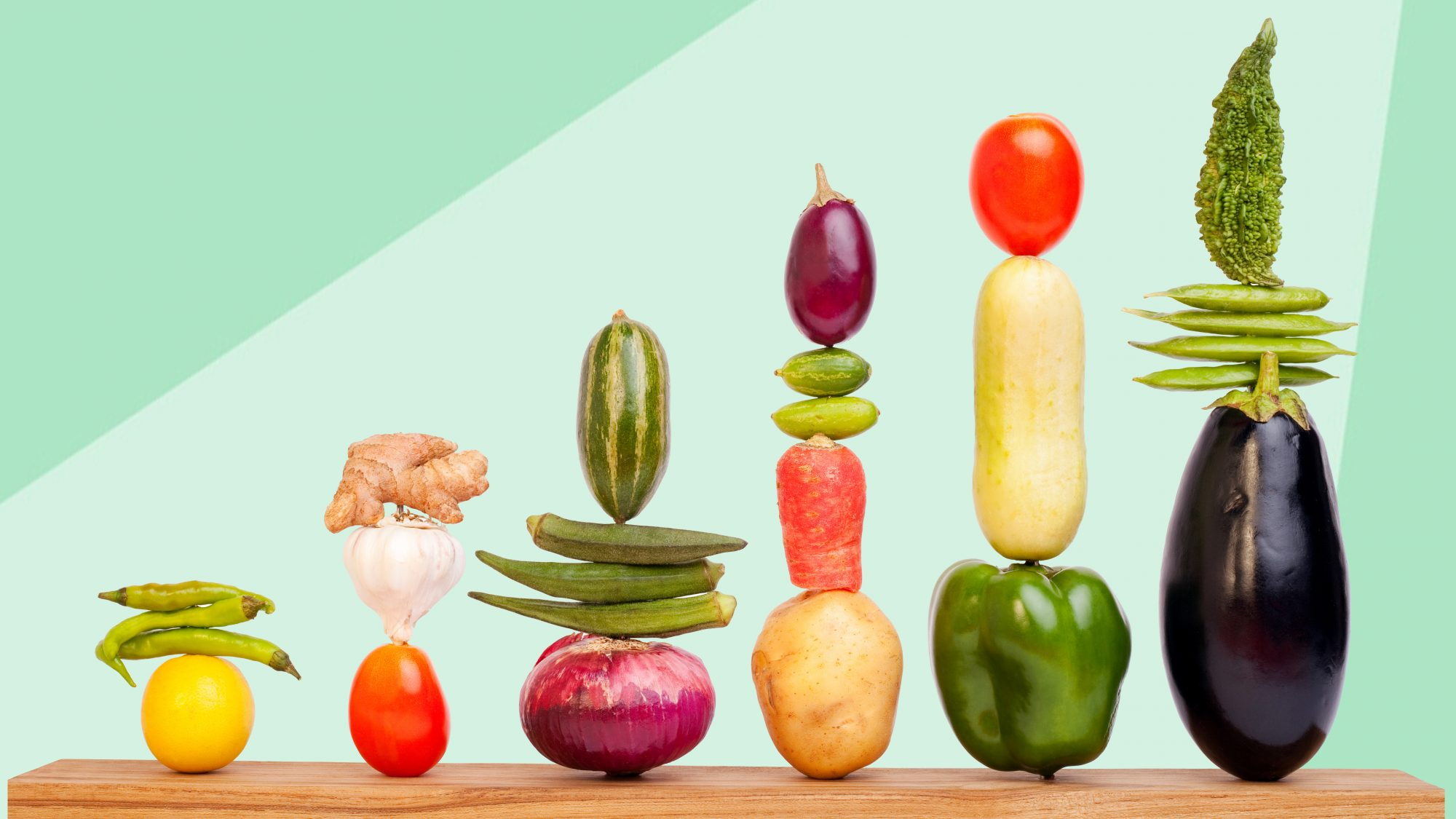 how stacks of fruit and vegetables: to waste less fresh food