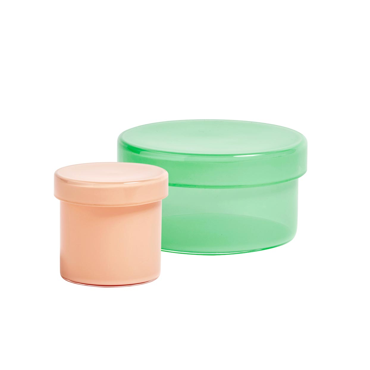 pastel glass containers