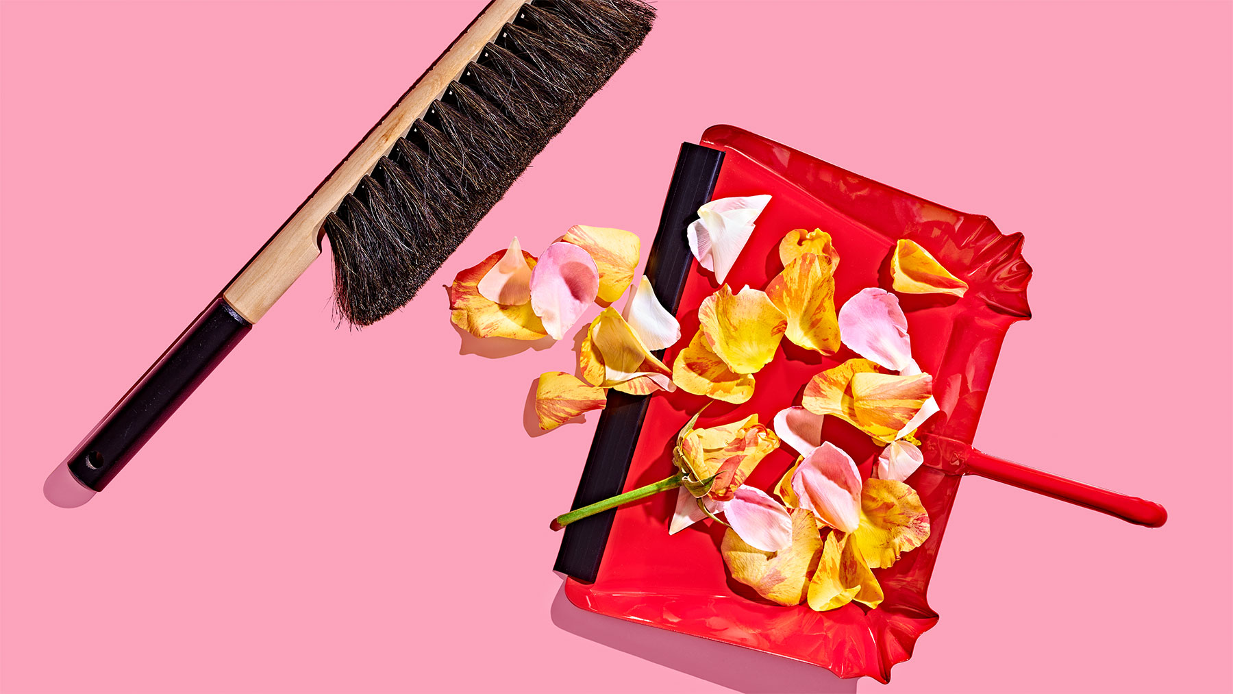 How to spring clean your life: dustpan and broom