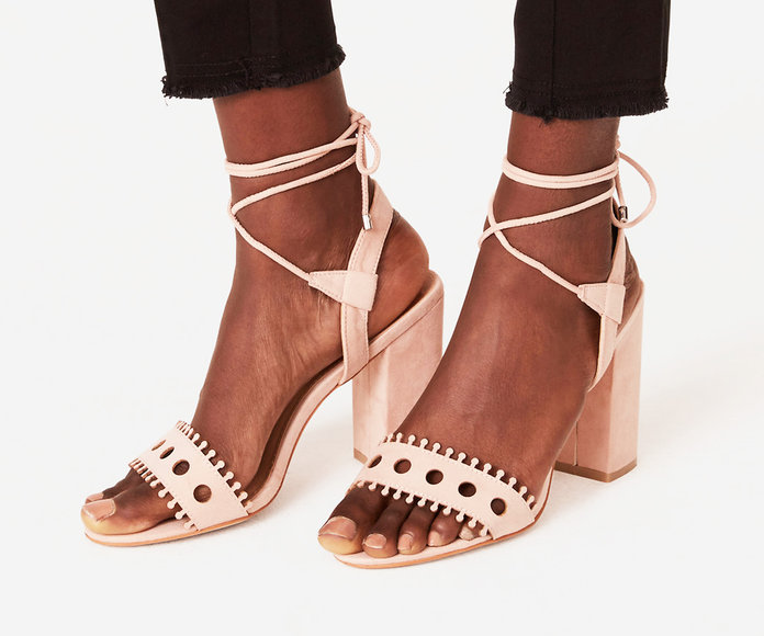 Strappy Cutout Block Heels