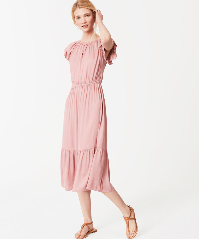 Flutter Dress in Pink