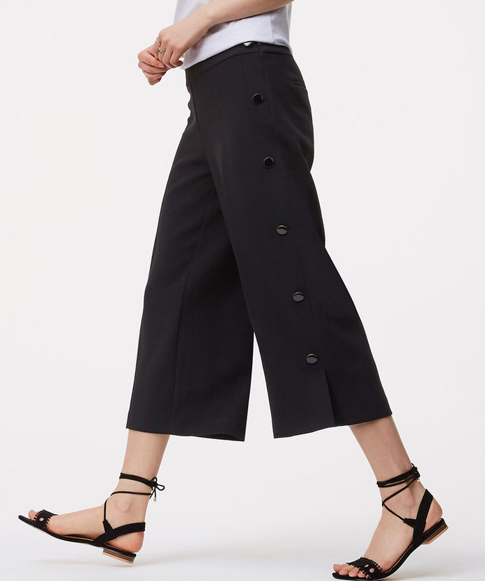 Side-Button Culottes