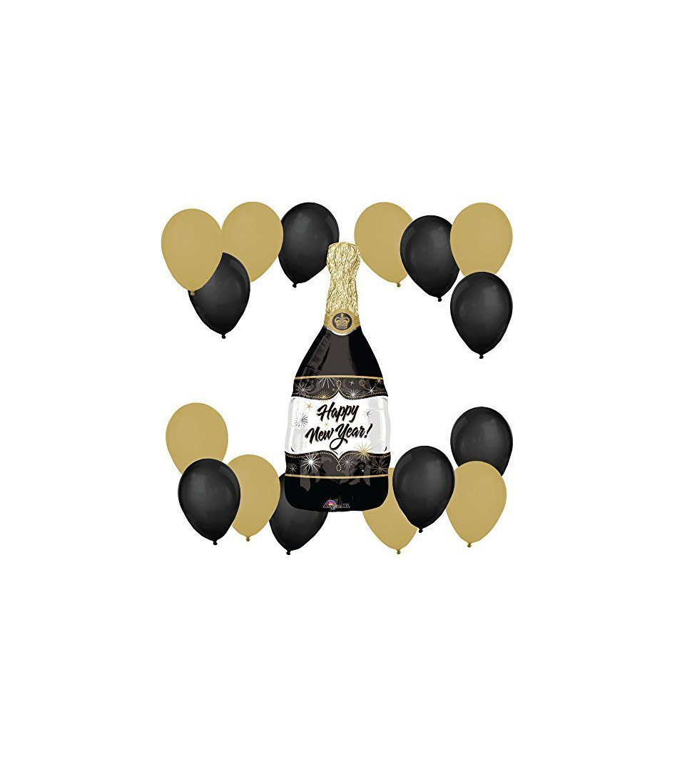 New Year's Eve Champagne Bottle Party Balloon Kit