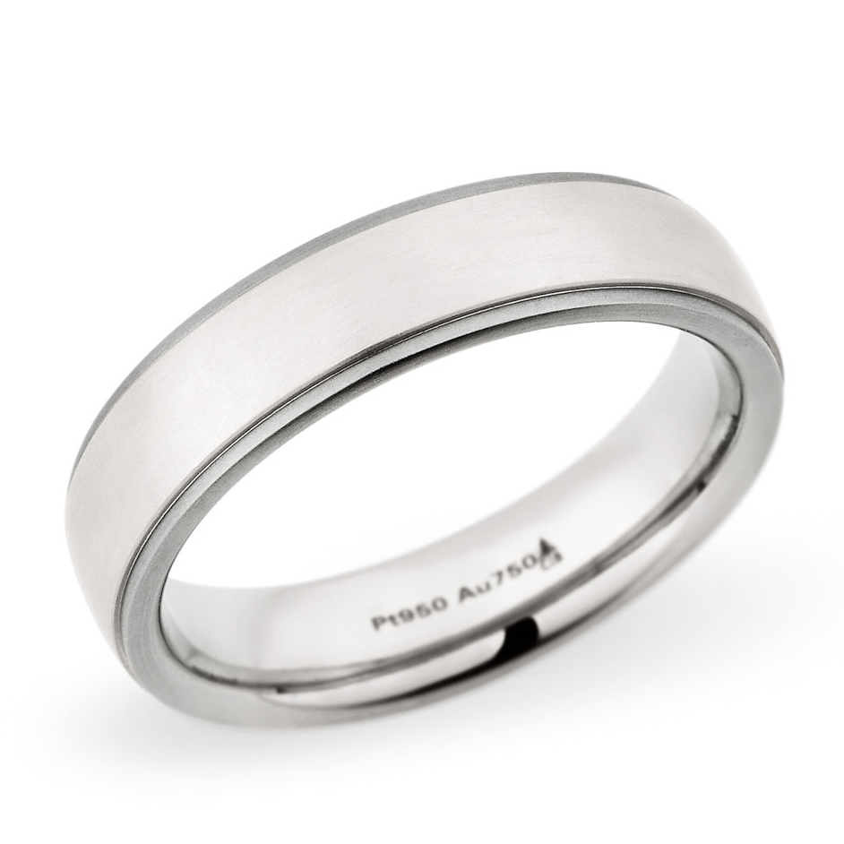 Men's wedding rings: Christian Bauer platinum and white gold wedding band