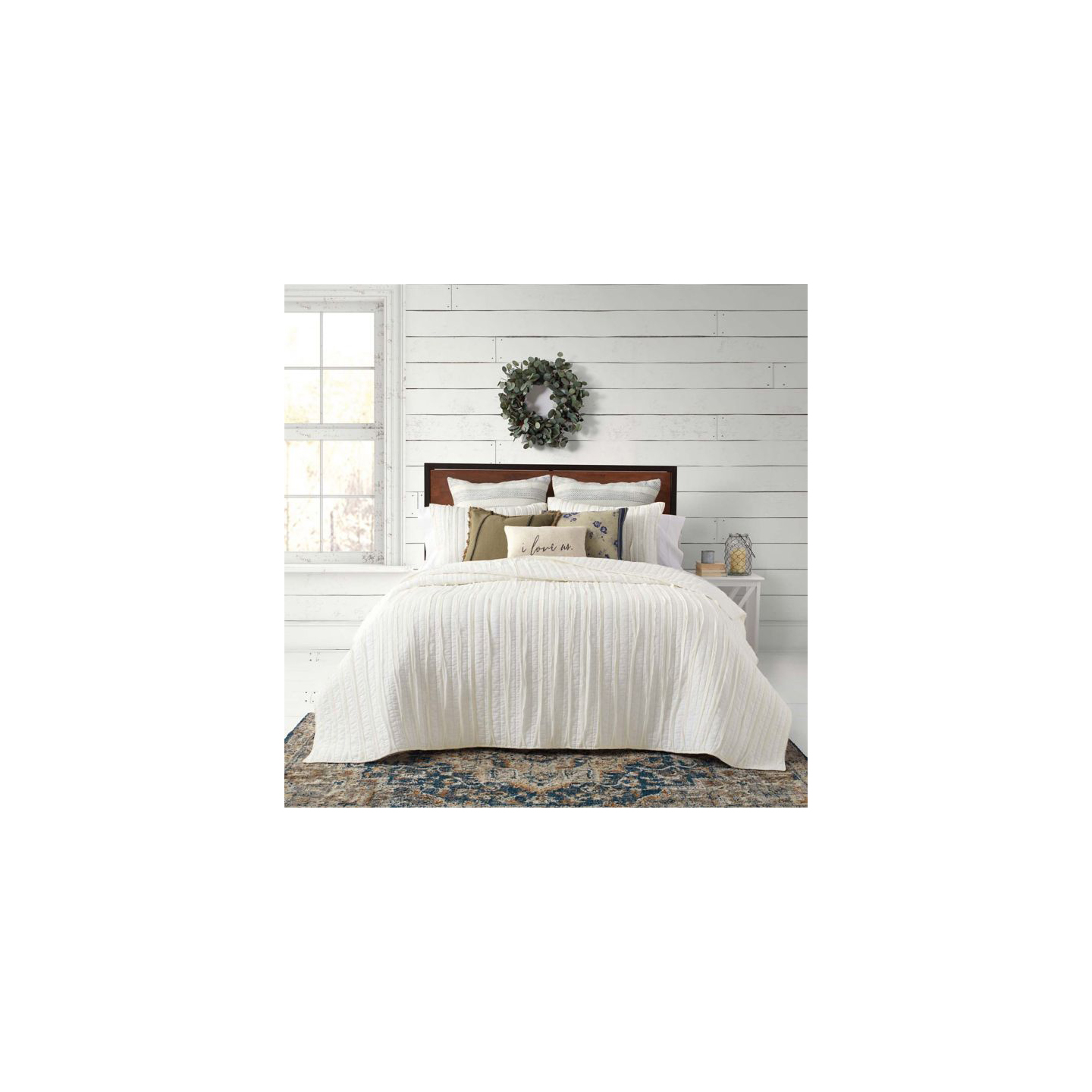 Bee & Willow Home French Vintage Ruffled Quilt Set