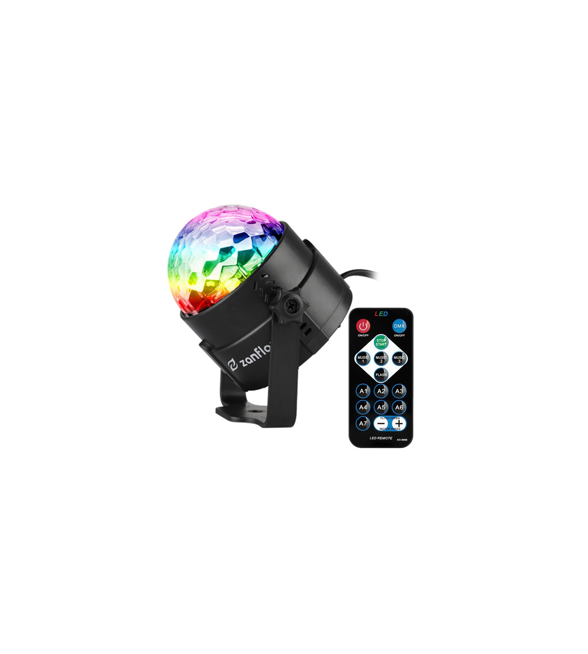 Zanflare Sound Activated Party Light with Remote Control