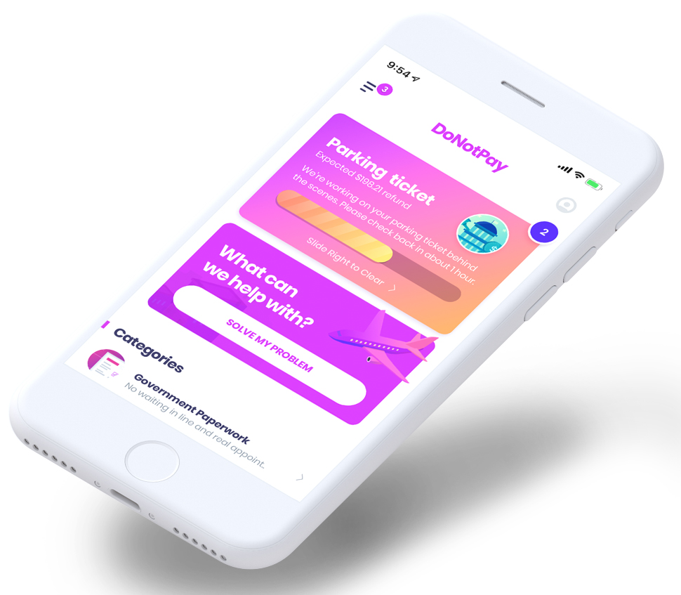 DoNotPay robot lawyer app